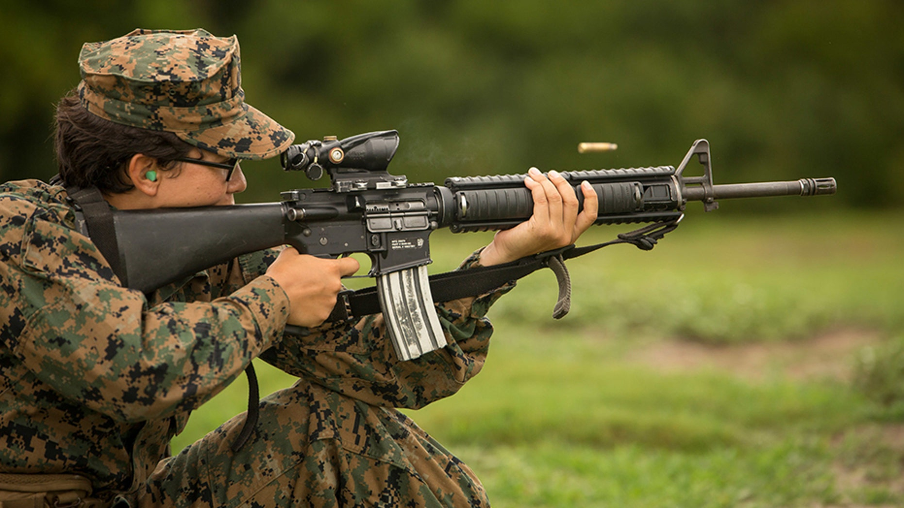 The Marines let women join a previously male-only combat training course in California.
