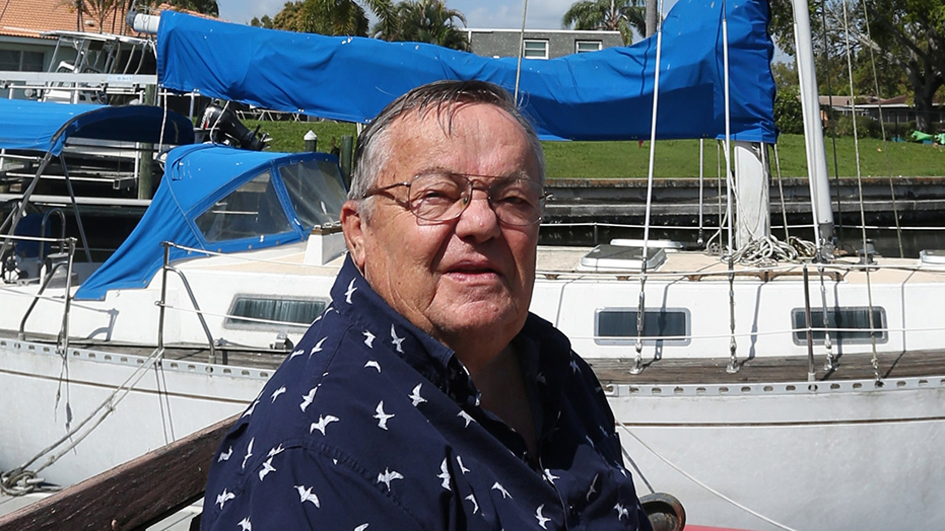 After reading the Tampa Bay Times story about the couple who's boat sank in John's Pass, Reinecke sold his boat to the couple for $1.00.