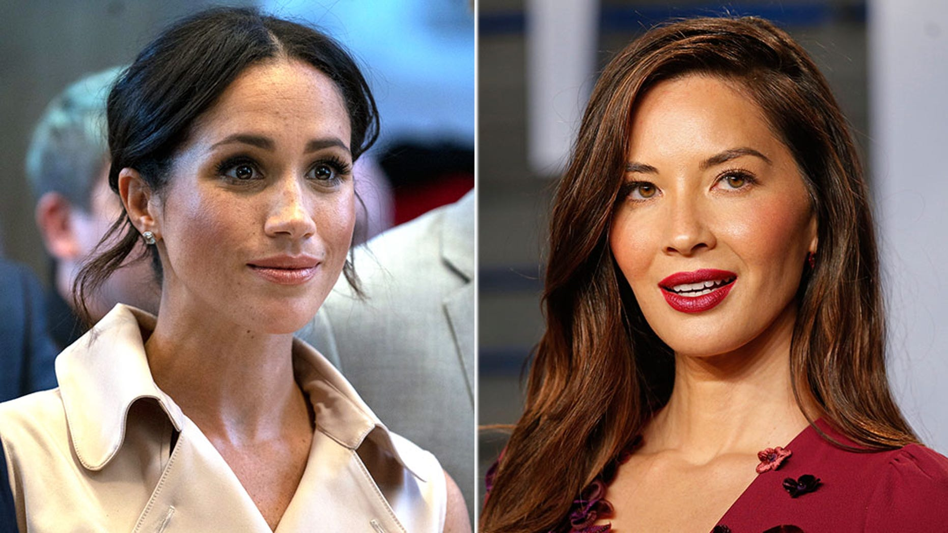 Meghan Markle (left) and Olivia Munn (right).