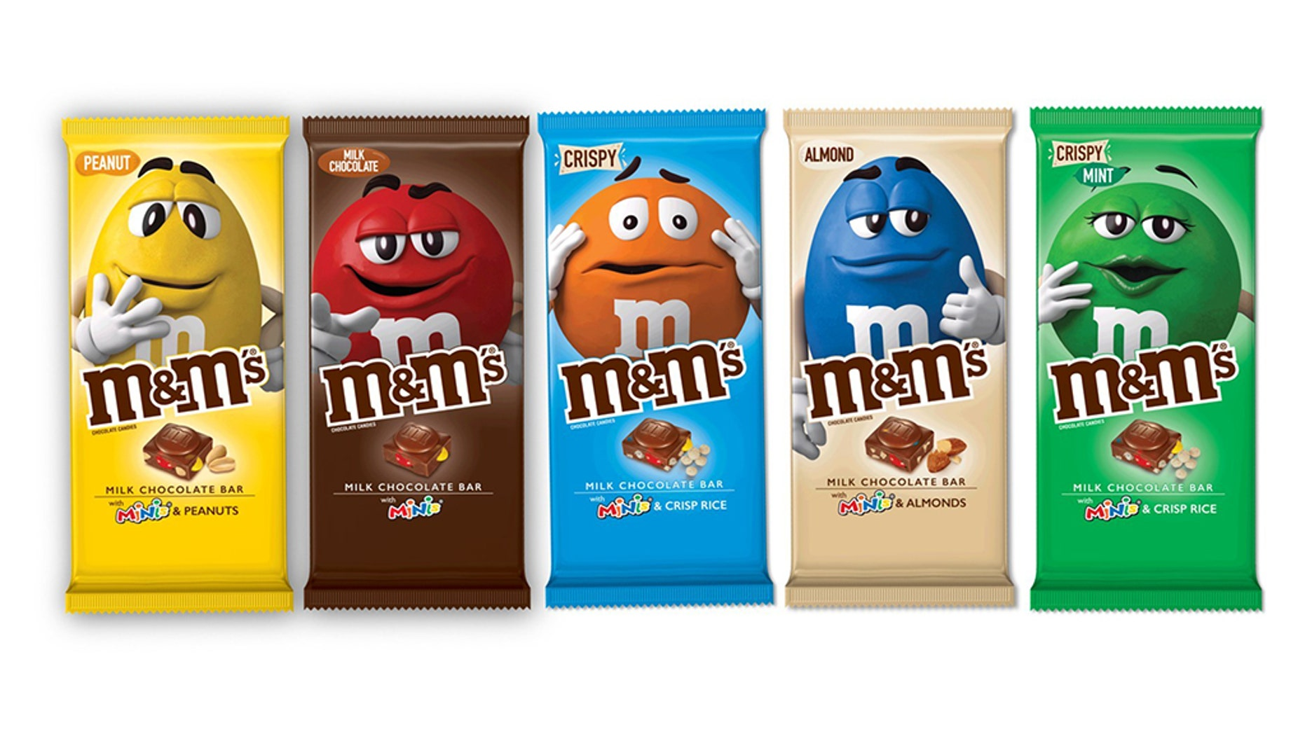 M&M's Chocolate Bars will be available in December, Mars Incorporated says.