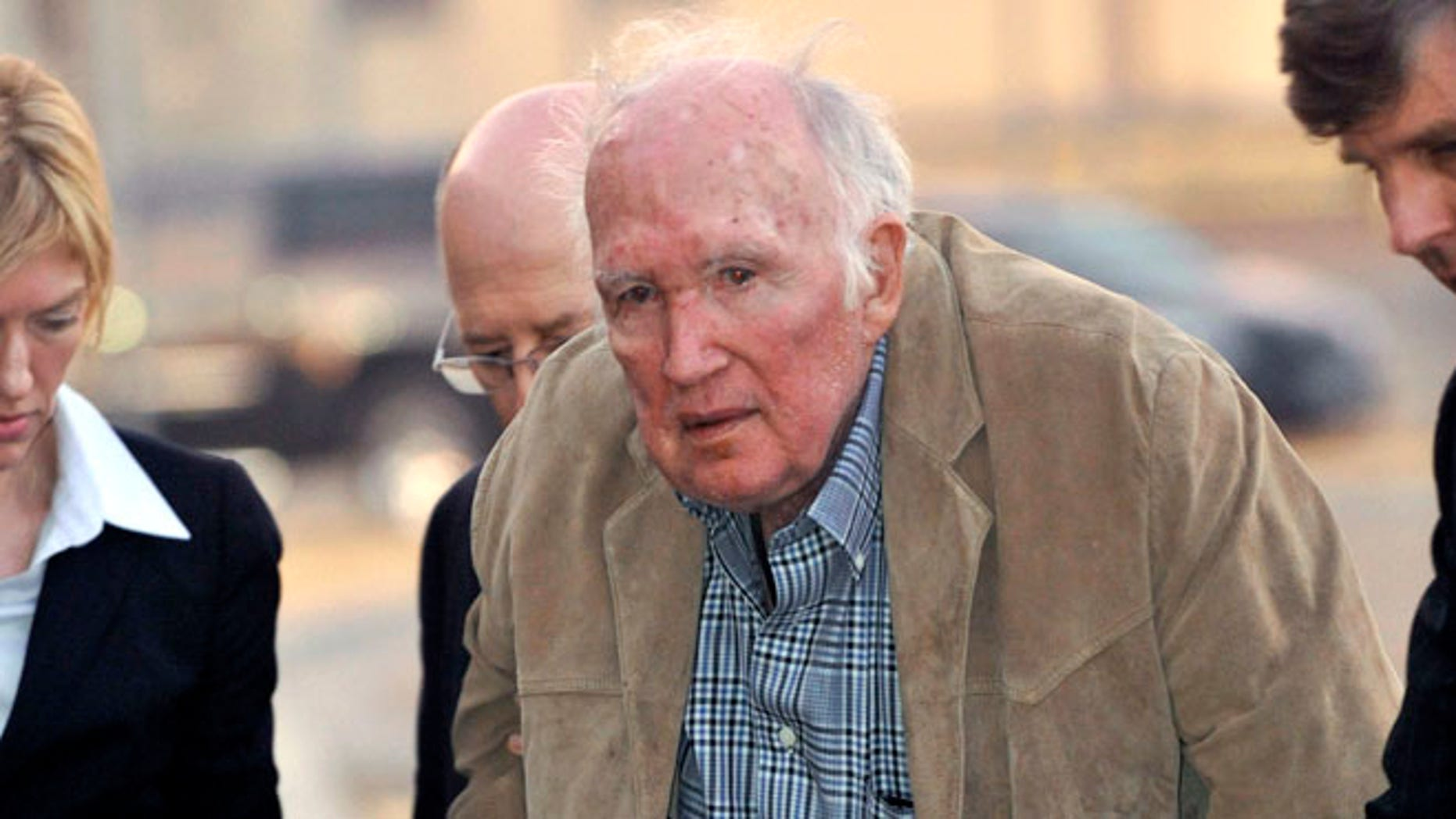 Nov. 28, 2012: Millionaire artist Stanley Marsh 3 is booked into the Potter County, Texas, Detention Center.
