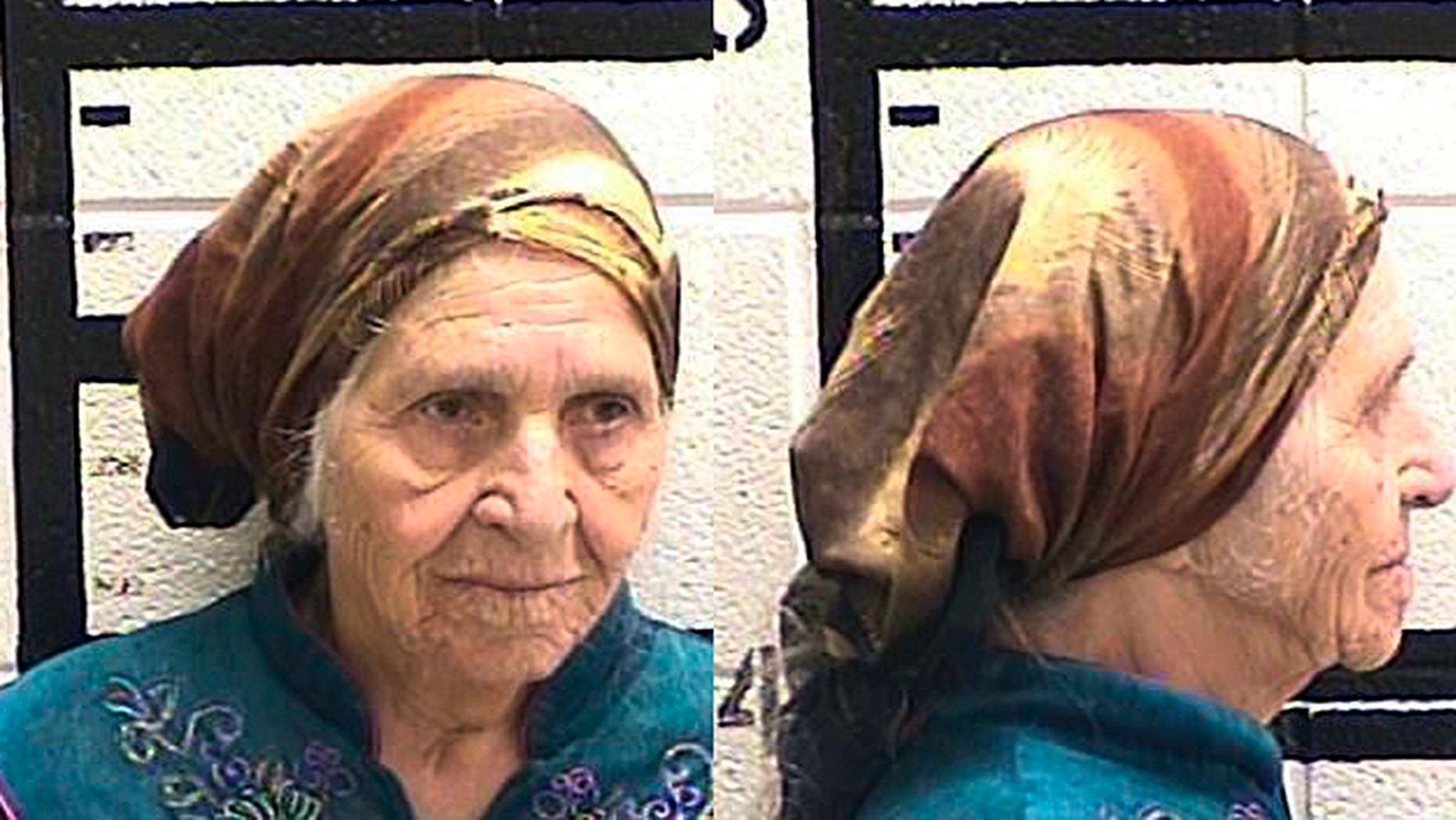This Friday, Aug. 10, 2018 photo released by the Murray County Jail shows Martha Al-Bishara, 87, under arrest.