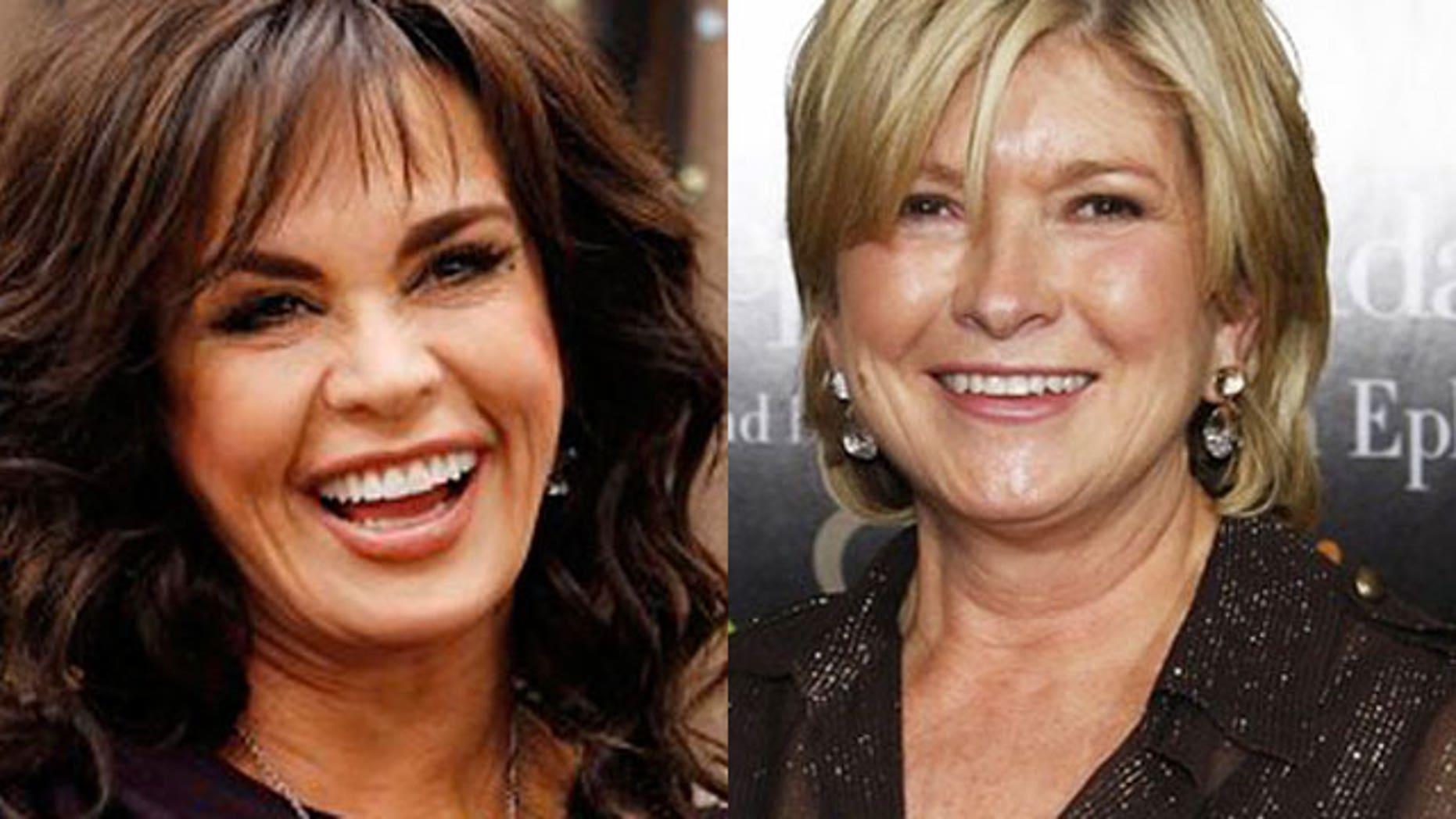 Marie Osmond will replace Martha Stewart (right) on the Hallmark Channel. (AP)