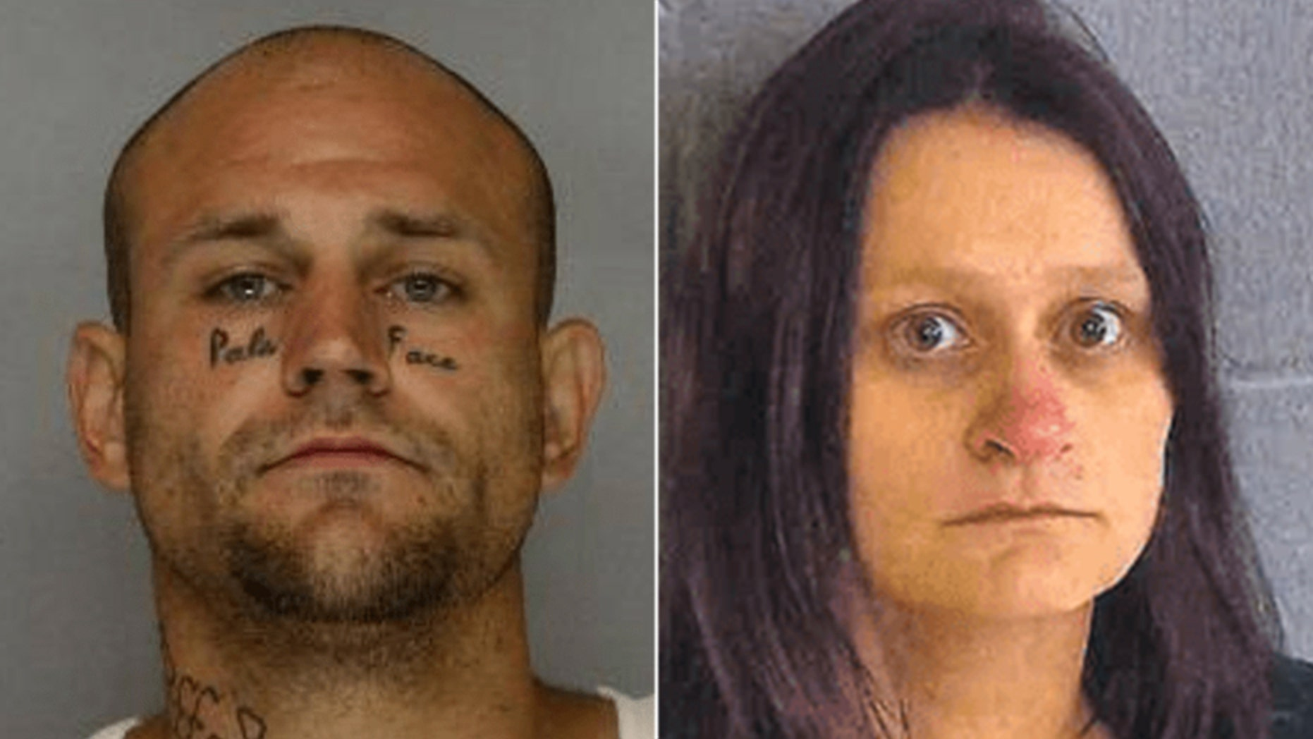 James Mathis, left, and Amanda Gail Oakes, right, are both being held on a $15,000 bond.