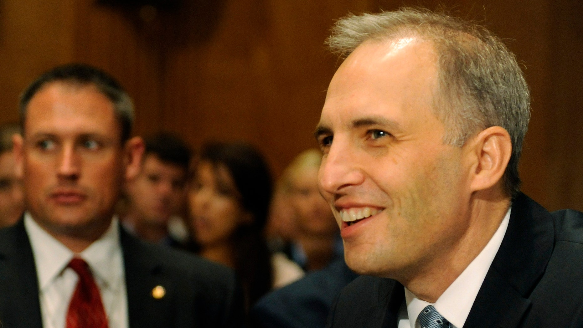FILE: Sept. 13, 2011: U.S. National Counter Terrorism Center Director Matthew Olsen at a Capitol Hill hearing in Washington, D.C.