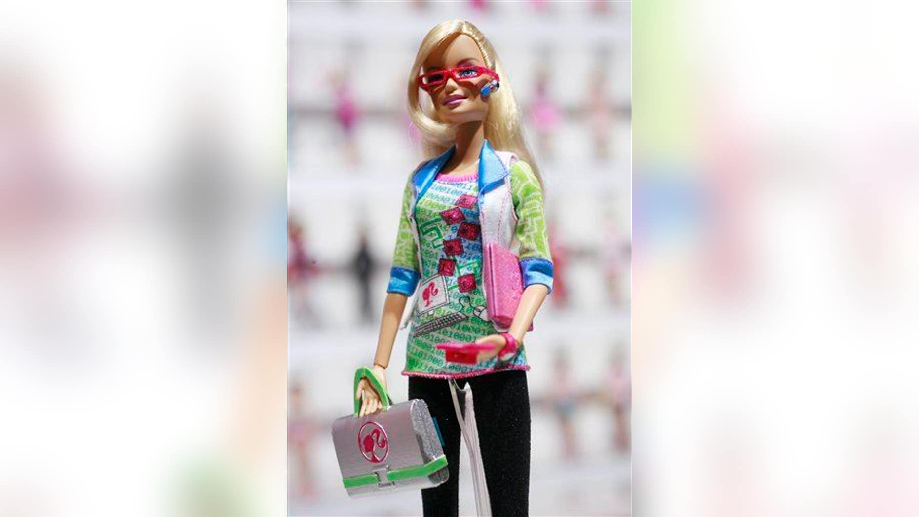 Computer Engineer Barbie is shown Feb. 12, 2010, at the New York Toy Fair.