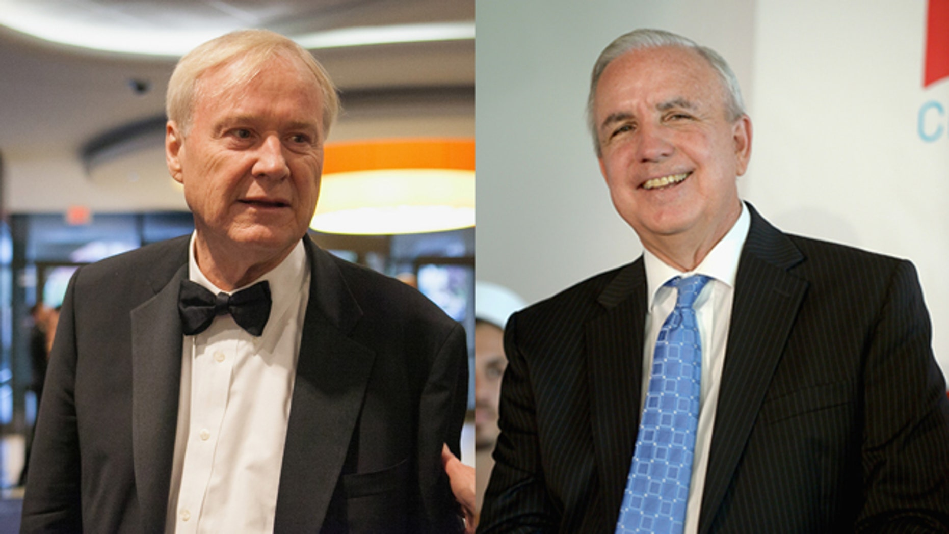 Chris Matthews (left) and Miami-Dade County Mayor Carlos Gimenez. (Photos: Getty Images)