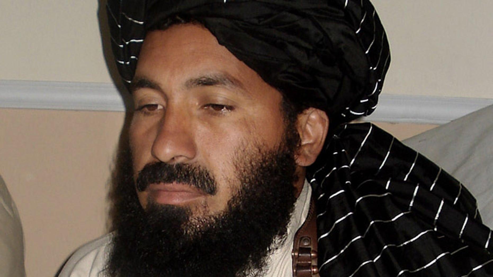 April, 20, 2007: Pakistani militant commander Maulvi Nazir meets his associates in South Waziristan near the Afghani border.