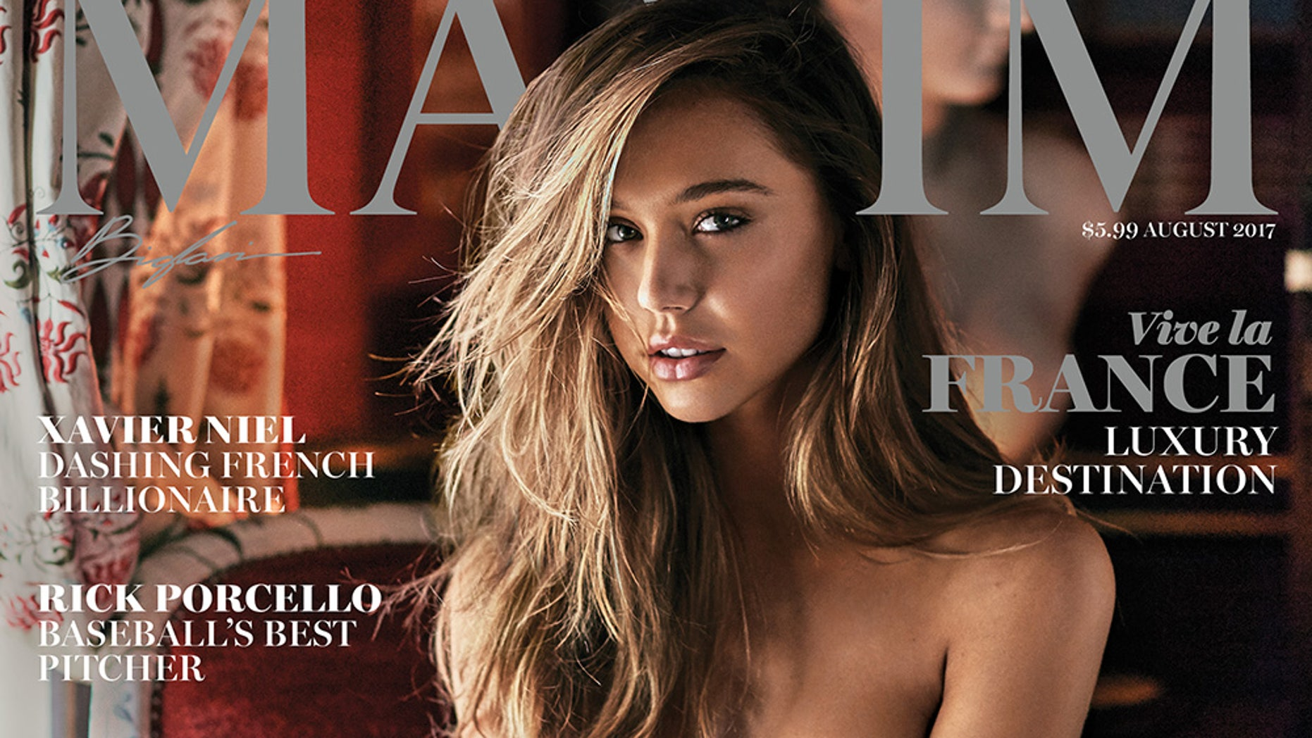Alexis Ren is on the cover of Maxim's August 2017 issue.