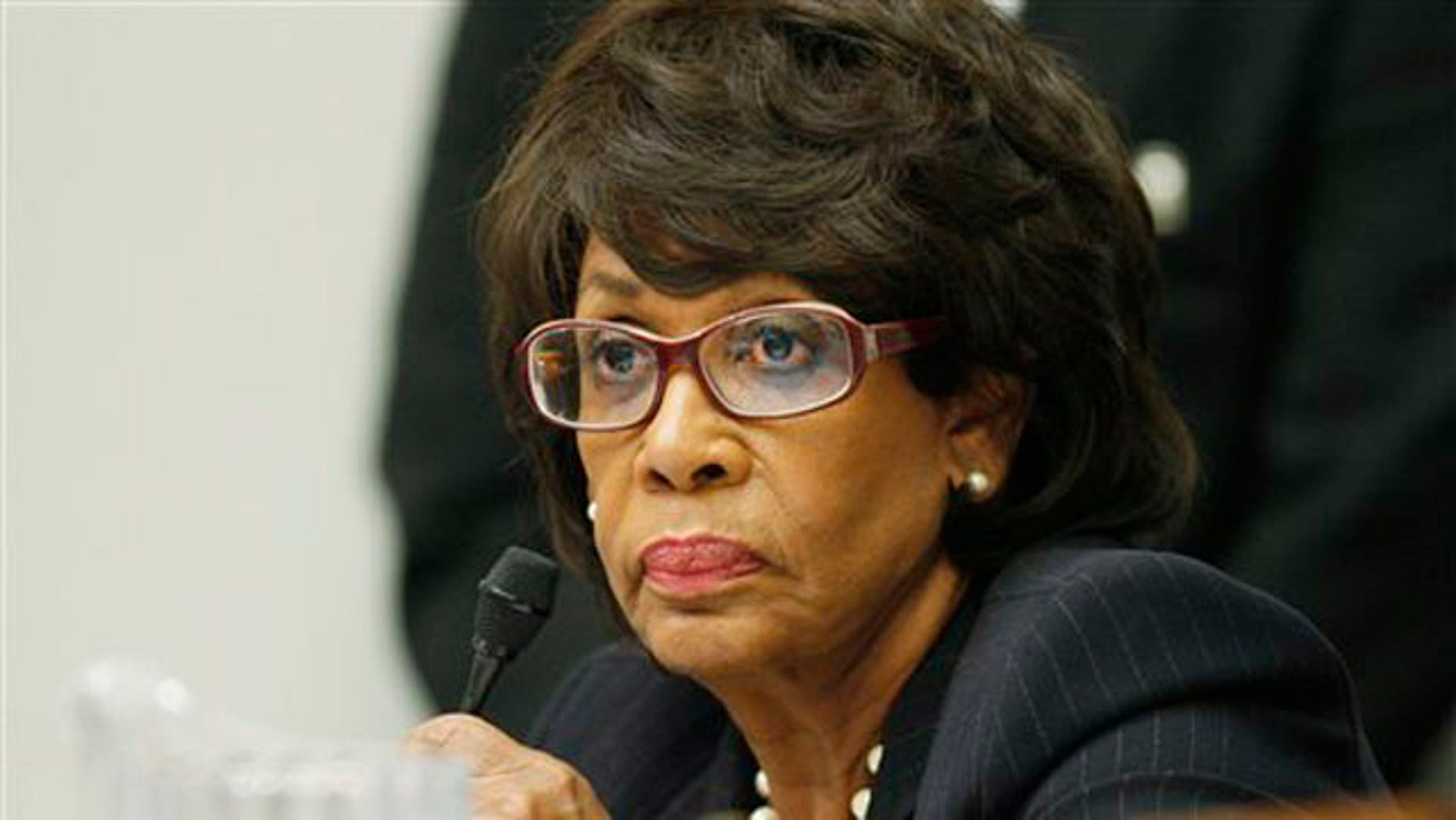 Oct. 28, 2009: Rep. Maxine Waters, D-Calif., is seen on Capitol Hill in Washington. A House investigative panel has decided to charge Rep. Maxine Waters of California with ethics violations, raising the possibility of a second trial this fall.