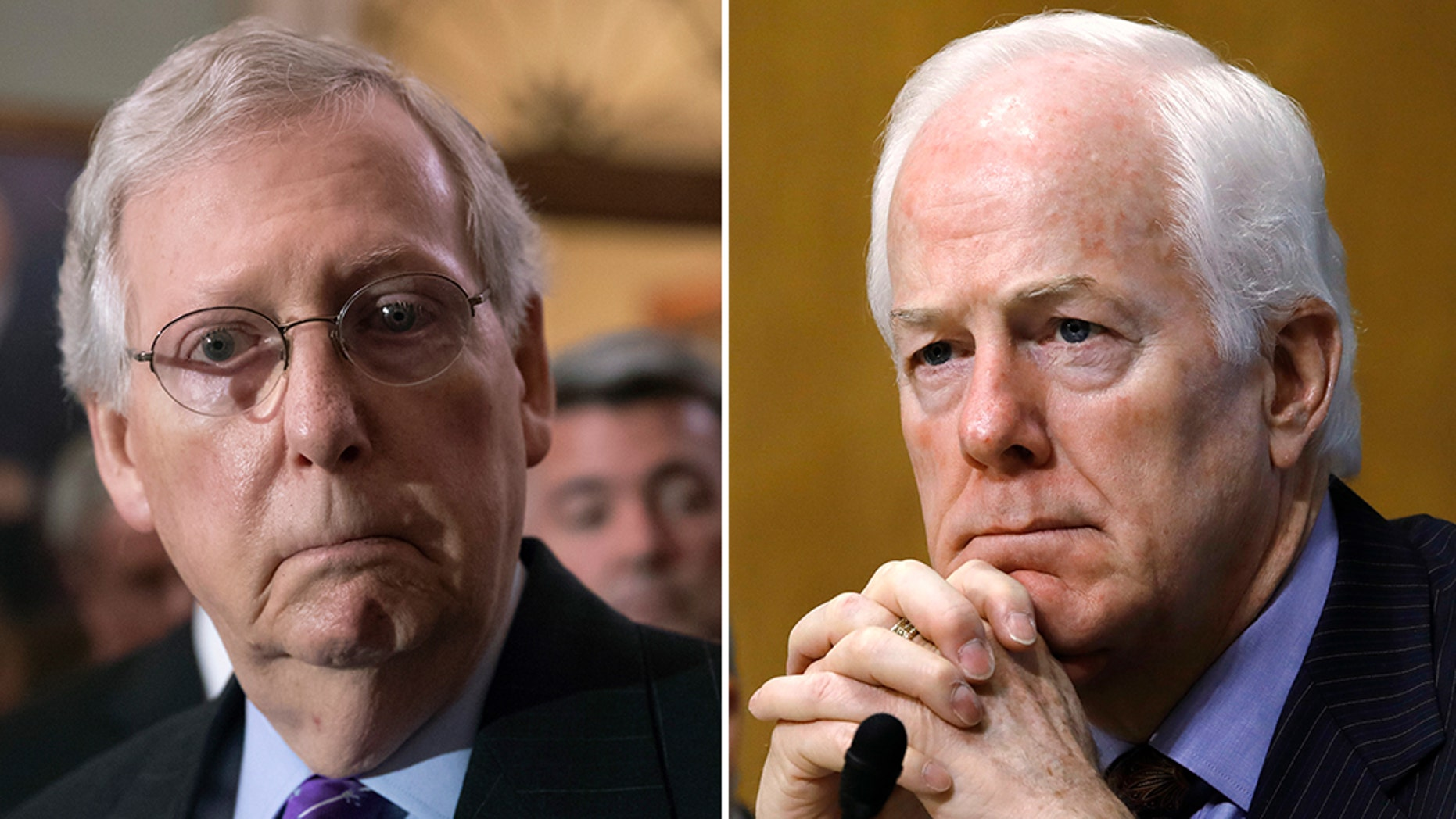Sen. John Cornyn, right, said the controversy would not reflect well on Congress, while Majority Leader Mitch McConnell said the effect on the midterms would be minimal.