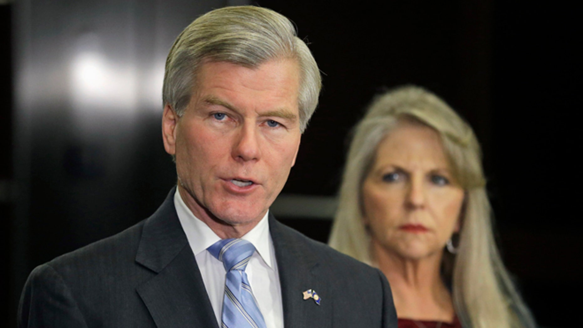 FILE: Tuesday, Jan. 21, 2014: Former Virginia Gov. Bob McDonnell and wife Maureen at a news conference in Richmond, Va.