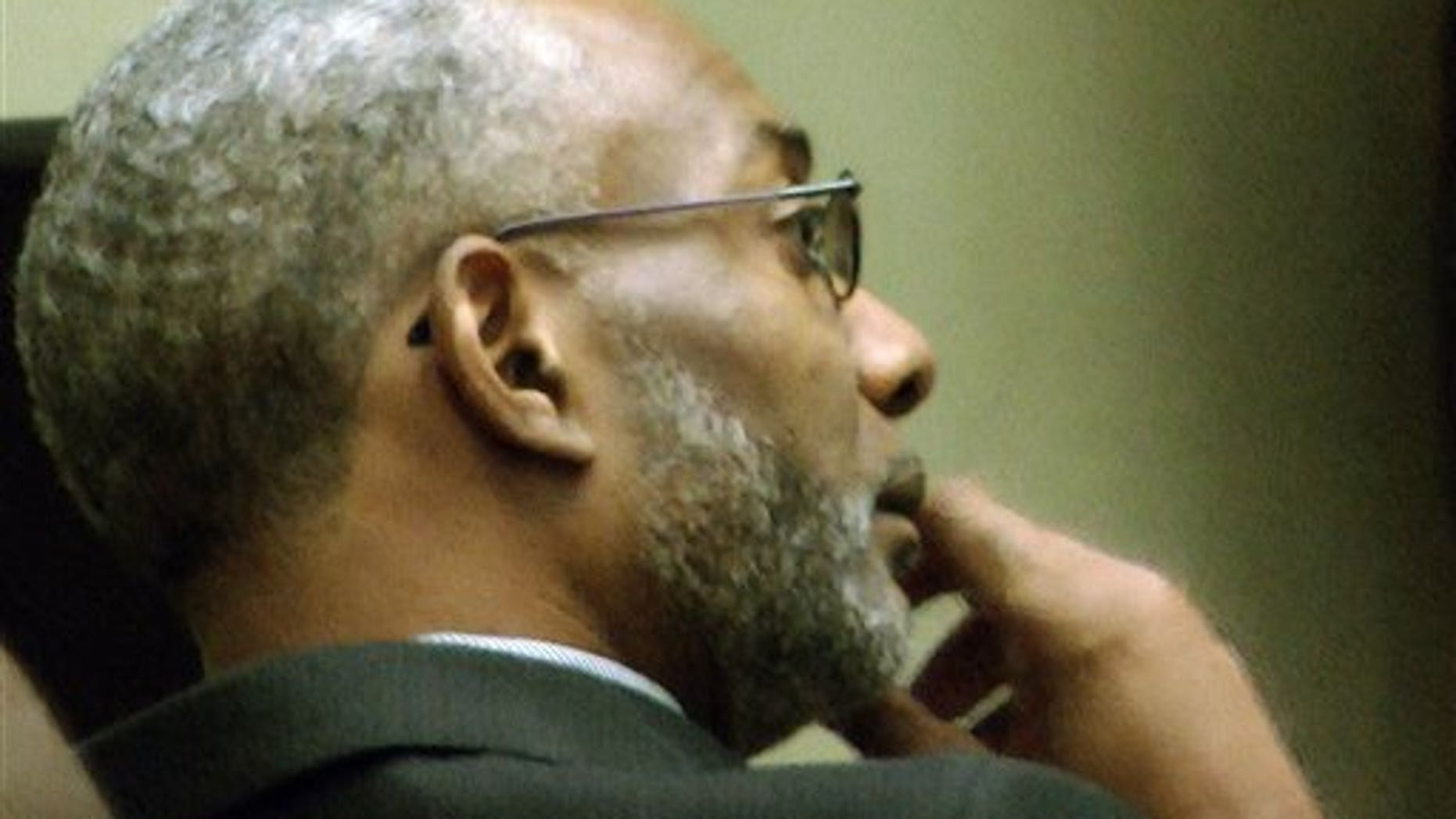Oct. 16: In this image taken from video, Rev. Juan McFarland listens to testimony during in a court hearing about the future of Shiloh Missionary Baptist Church in Montgomery, Ala.