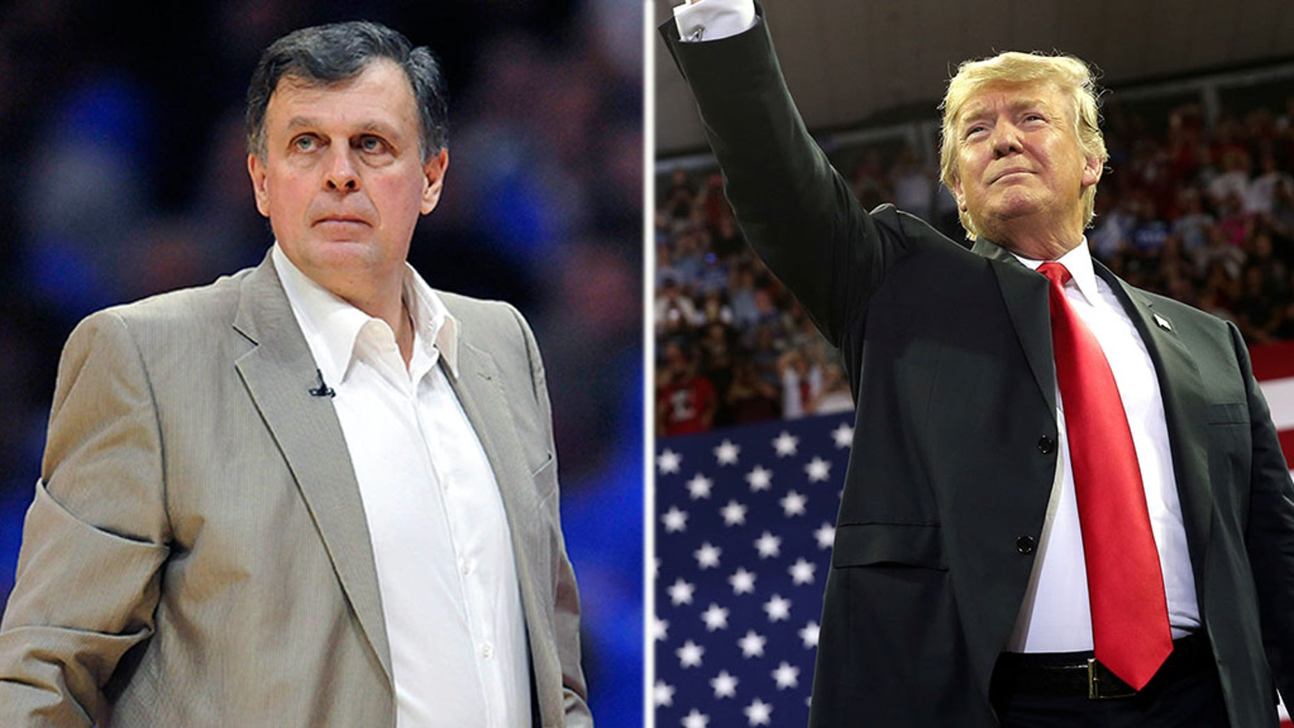 NBA Hall of Famer Kevin McHale is under attack by the left for possibly attending a Trump rally.