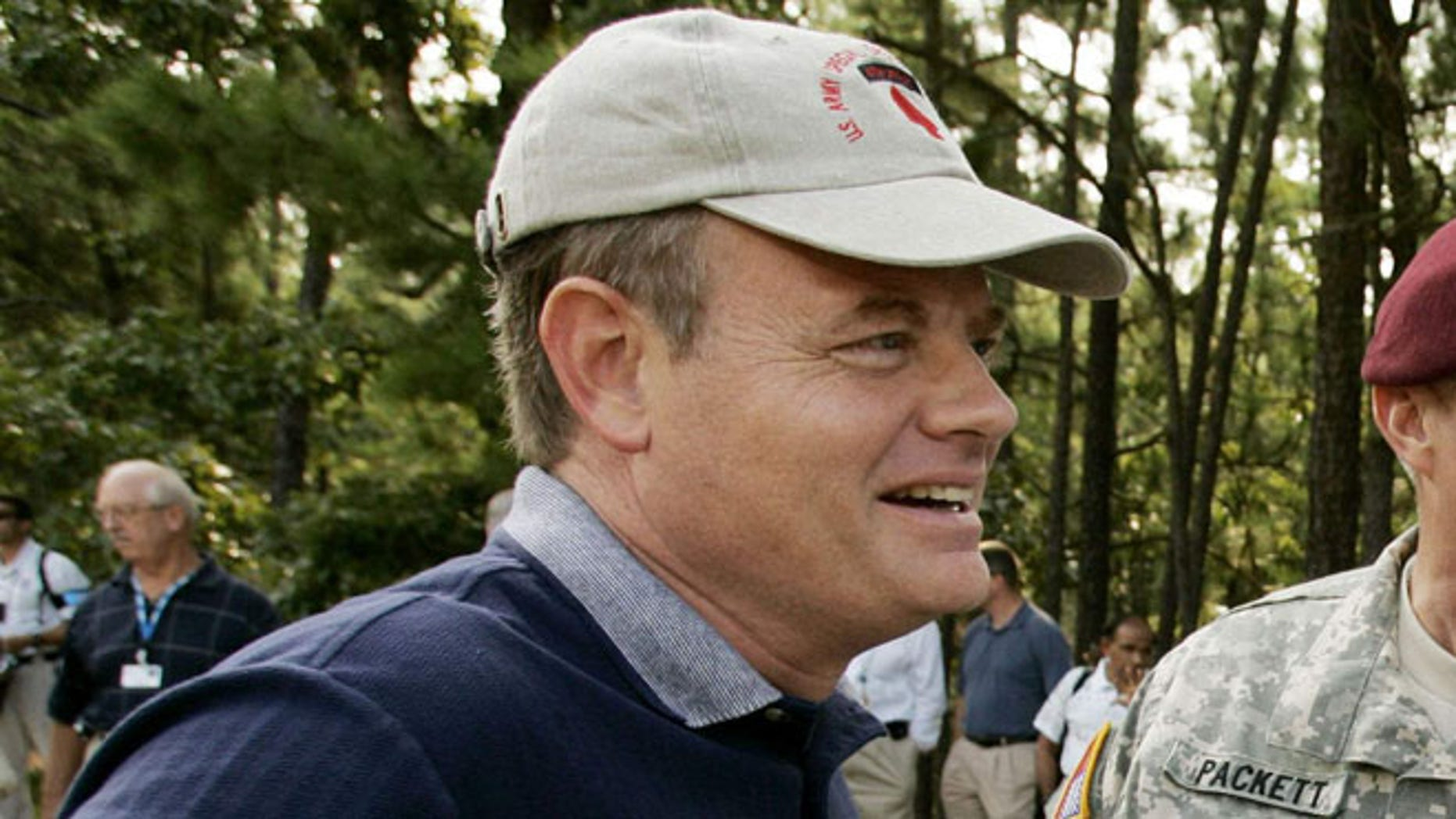 FILE: August 15, 2005: Rep. Mike McIntyre, D-N.C., at Fort Bragg in Fayetteville, N.C. .