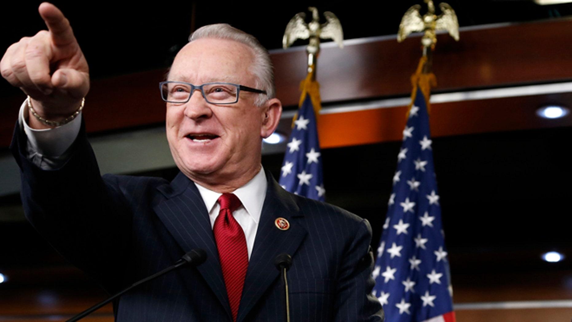 FILE: Dec. 9, 2013: Rep. Buck McKeon, R-Calif., at the U.S. Capitol in Washington, D.C.