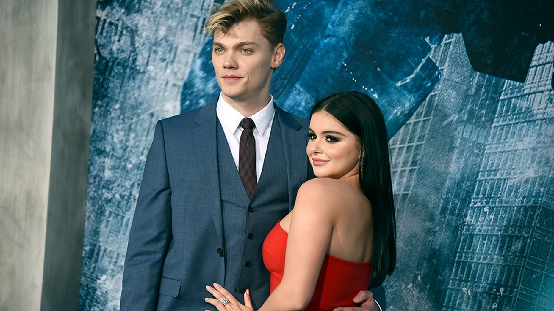 """Modern Family"" actress Ariel Winter with her boyfriend, actor Levi Meaden."