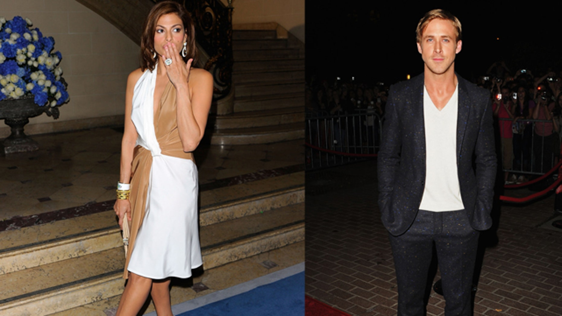 Eva Mendes on the right. Ryan Gosling on the left.