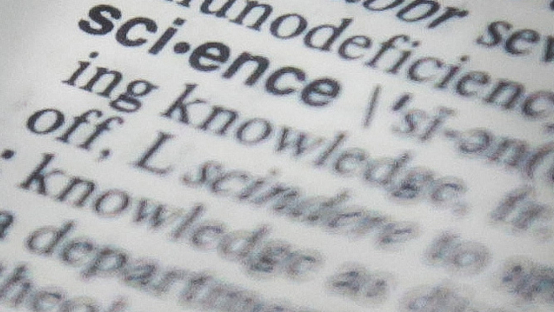 "Dec. 2, 2013: The word ""science"" on a page of a Merriam-Webster dictionary -- the publisher's word of the year."