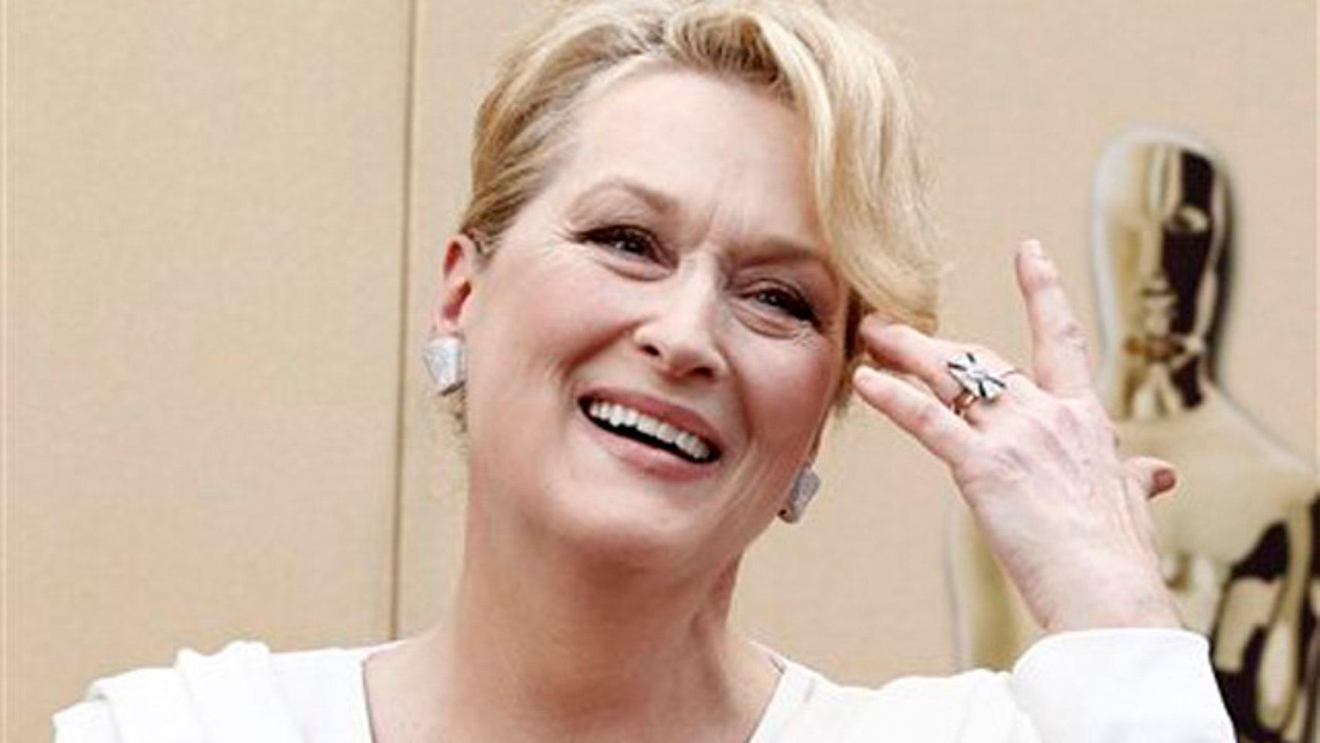 Meryl Streep arrives during the 82nd Academy Awards.