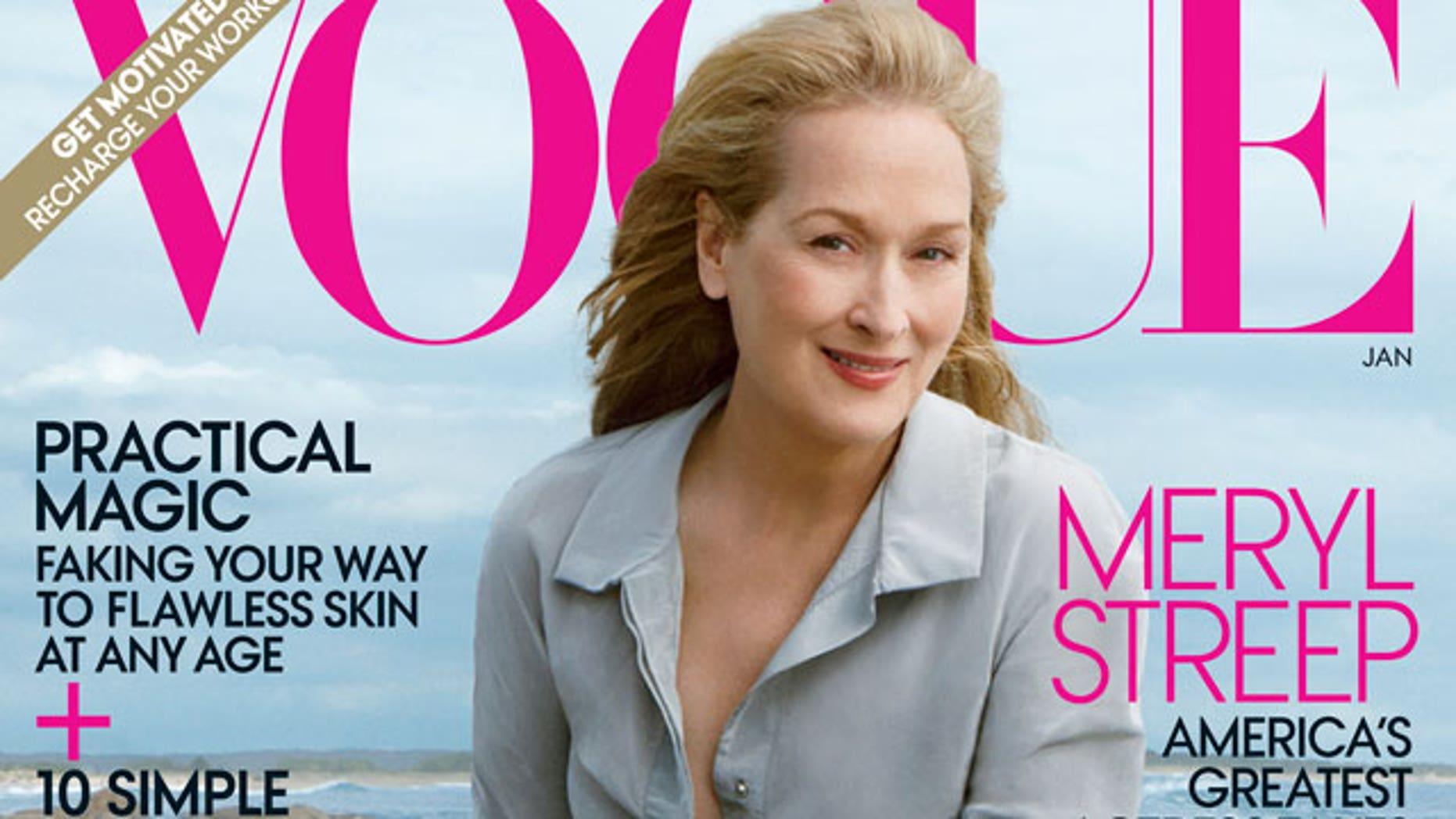 Meryl Strep on the January cover of Vogue magazine.