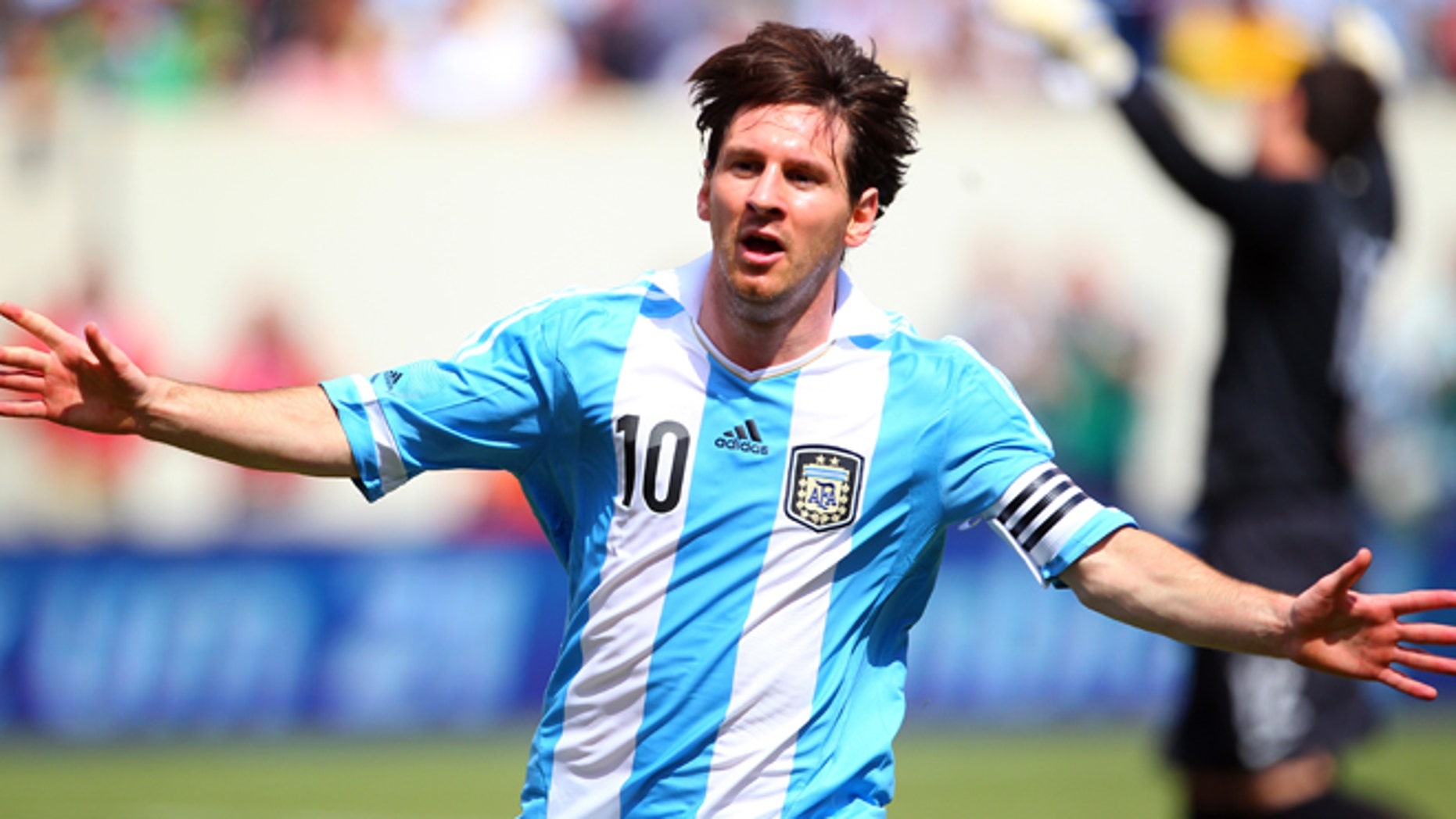 Lionel Messi on June 9, 2012 at MetLife Stadium in East Rutherford, New Jersey.