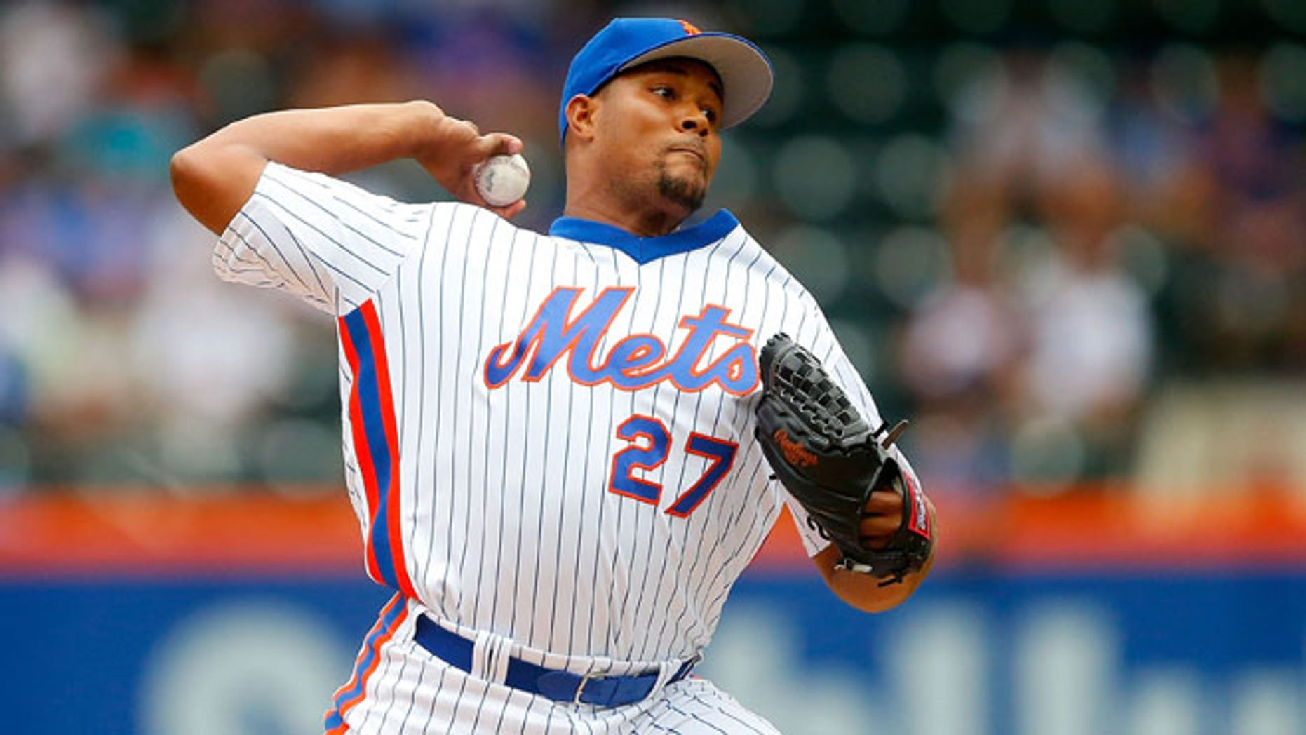 Jeurys Familia #27 of the New York Mets on July 31, 2016.