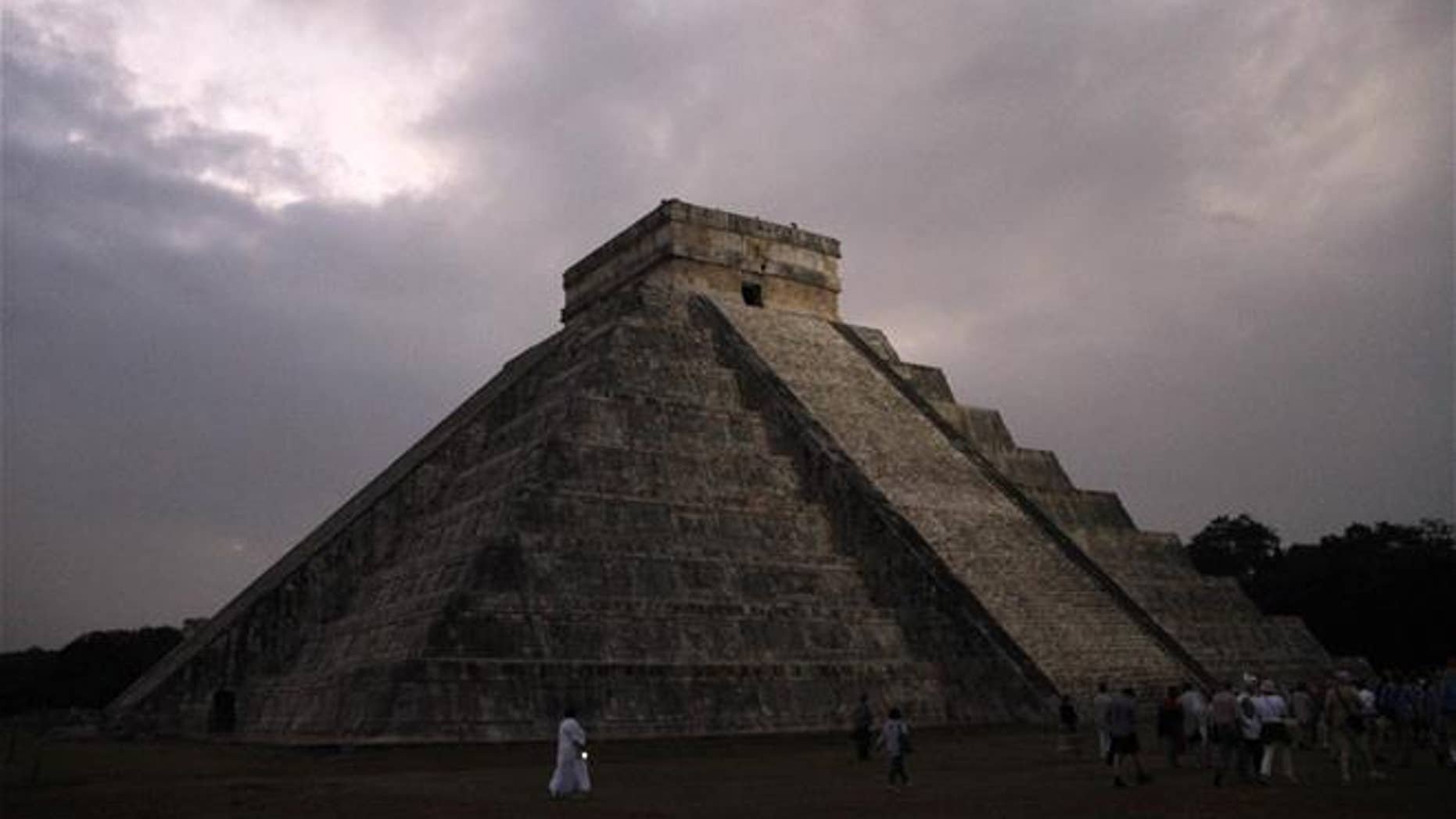 This 2012 photo shows the Kukulkan temple in Chichen Itza, Mexico.