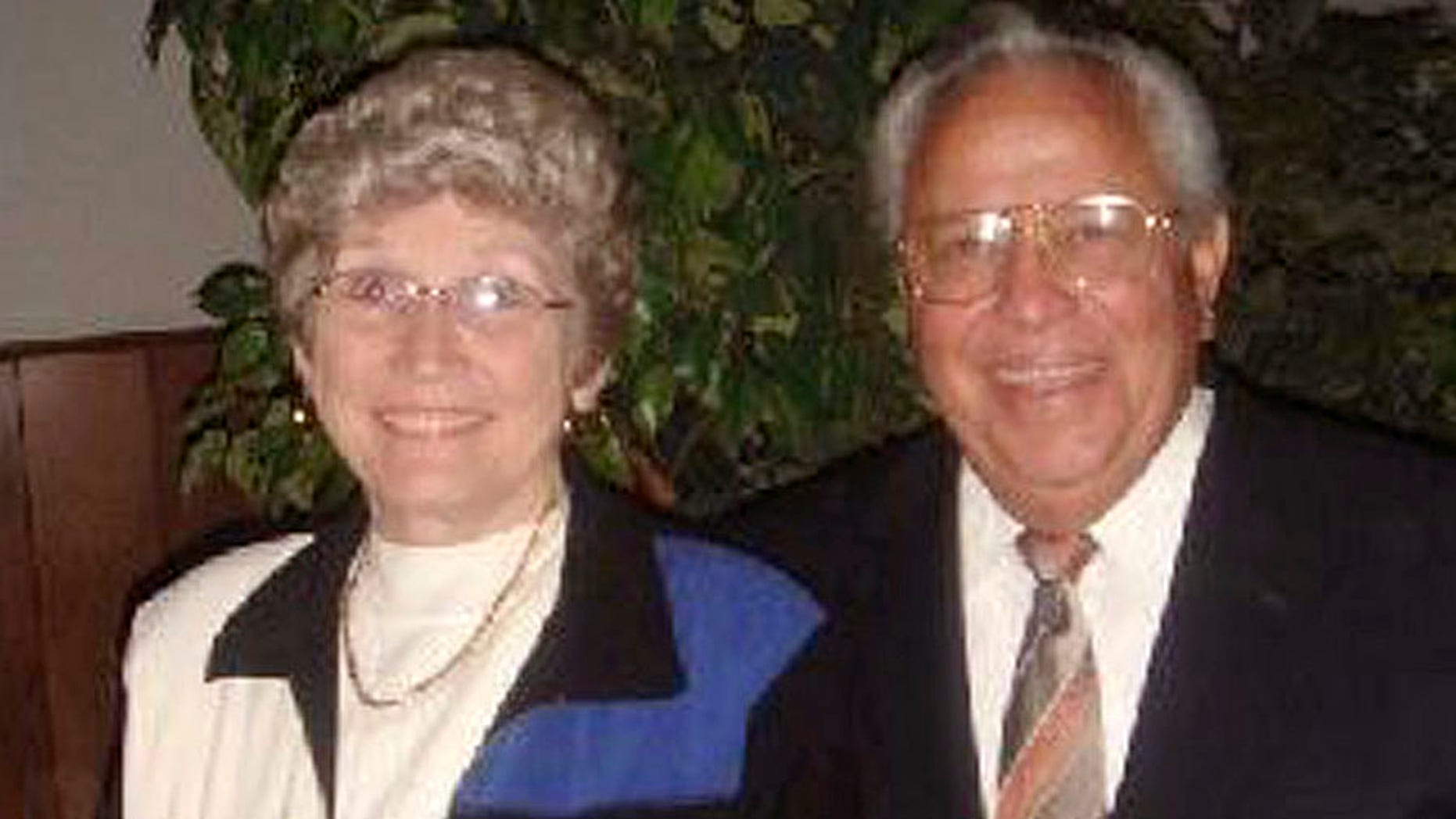 John Casias, right, and his wife Wanda Casias are shown in this undated photo provided by the Casias family.  The couple from Texas who moved to a violence-plagued area of northern Mexico to run a Baptist church, were found slain at their ransacked home Tuesday, Feb 1, 2011, in Mexico. Their son, Shawn Casias said he discovered the body of his mother when he went to their home in the town of Santiago to pick up a trailer. (AP Photo/Casias Family photo)