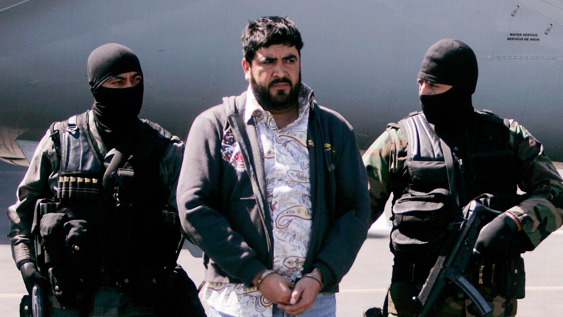 """Alfredo Beltran Leyva, known as """"El Mochomo"""", in a Jan. 21, 2008 file photo."""