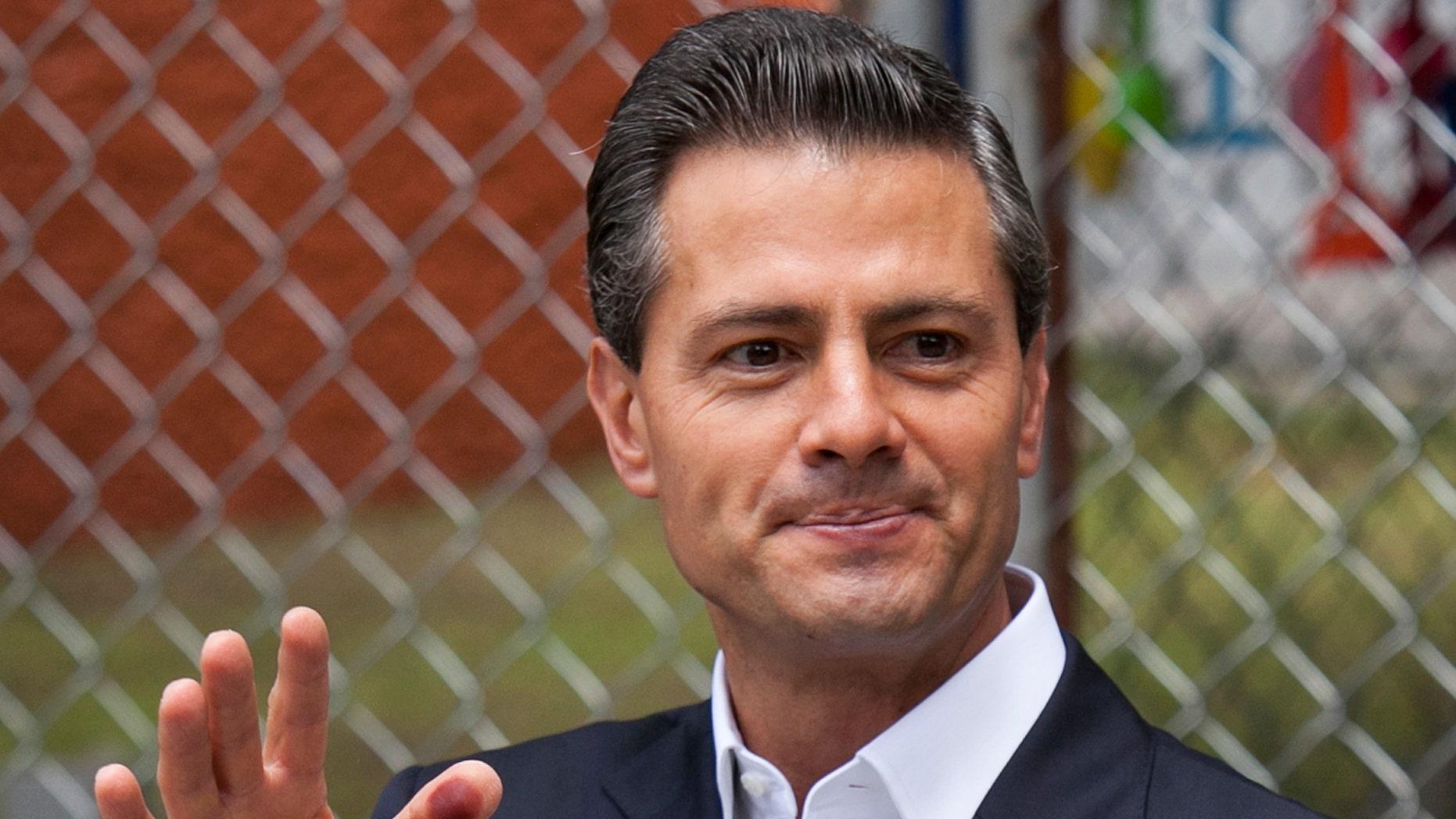 Mexico's President Enrique Pena Nieto in a 2015 file photo.