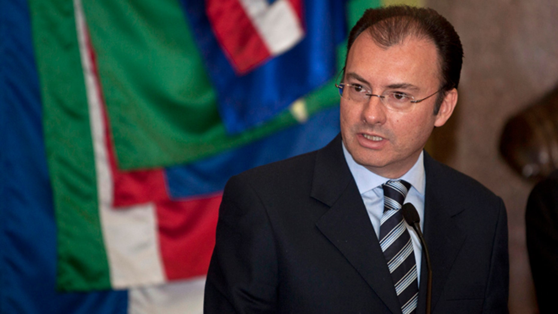 Mexico's former Treasury Minister Luis Videgaray in a Dec. 14, 2012 file photo.
