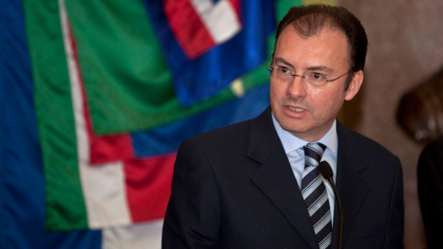 Mexico's former Treasury Minister Luis Videgaray in a Dec. 14, 2012 file photo.