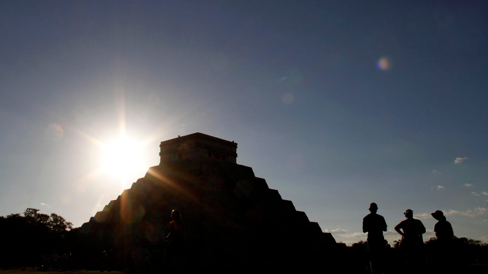 Dec. 20, 2012 - People gather in front of the Kukulkan Pyramid in Chichen Itza, Mexico.