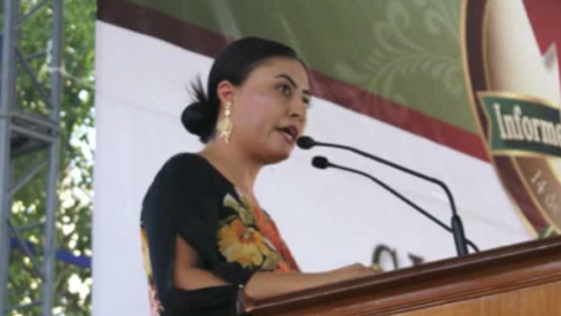 Mayor Dalia Santana (Image: YouTube)