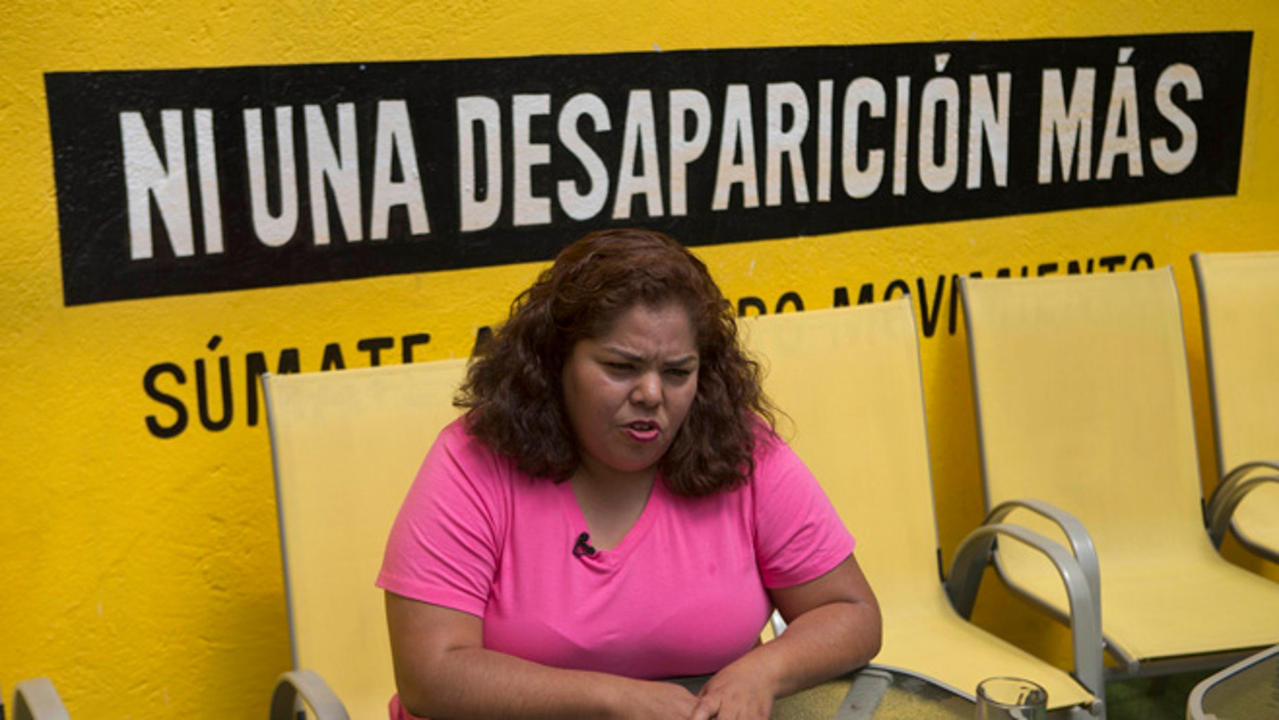 Claudia Medina Tavariz at the Amnesty International office in Mexico City, Monday, June 27, 2016.