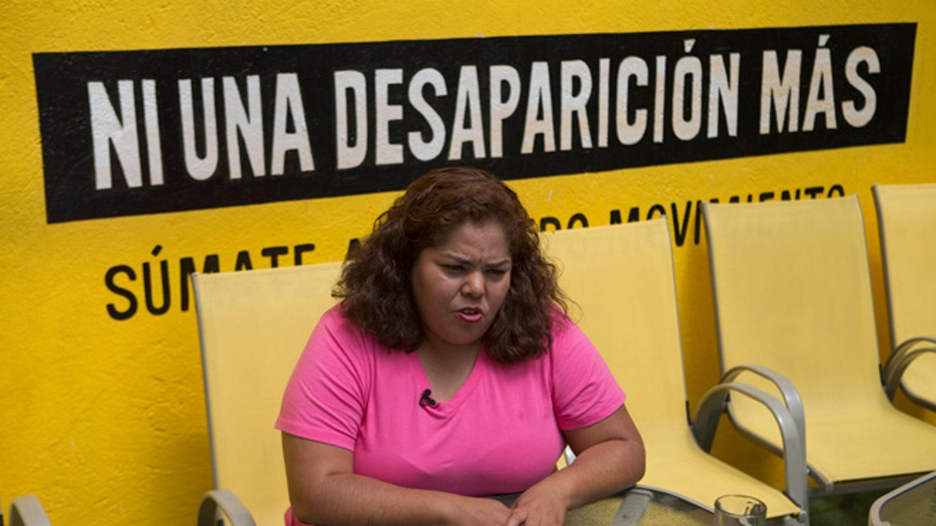 Claudia Medina Tavariz at the Amnesty International office in Mexico City, Monday, June 27, 2016.