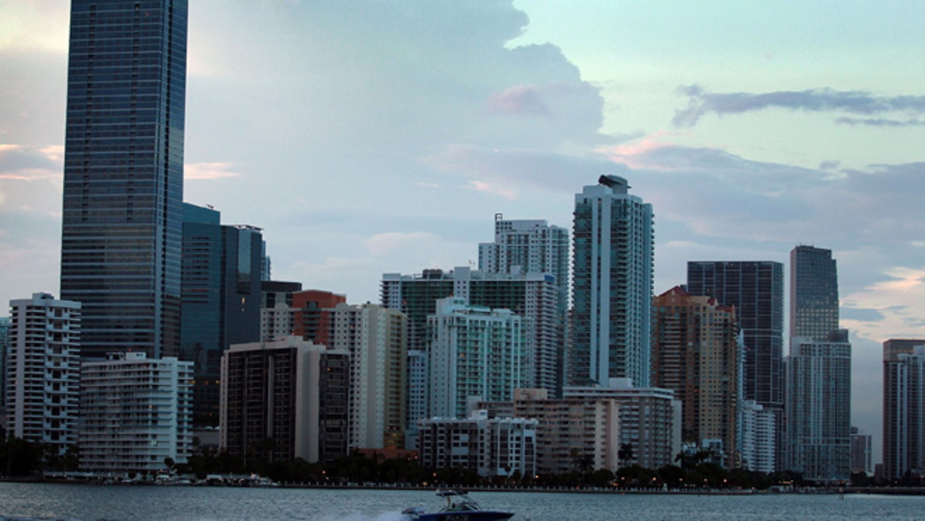 MIAMI - AUGUST 06:  The City of Miami skyline is seen on August 6, 2010 in Miami, Florida. As thousands of newly built condominium units start to fill up with new owners and tenants downtown Miami is starting to see business and activity pick up in the area.  (Photo by Joe Raedle/Getty Images)