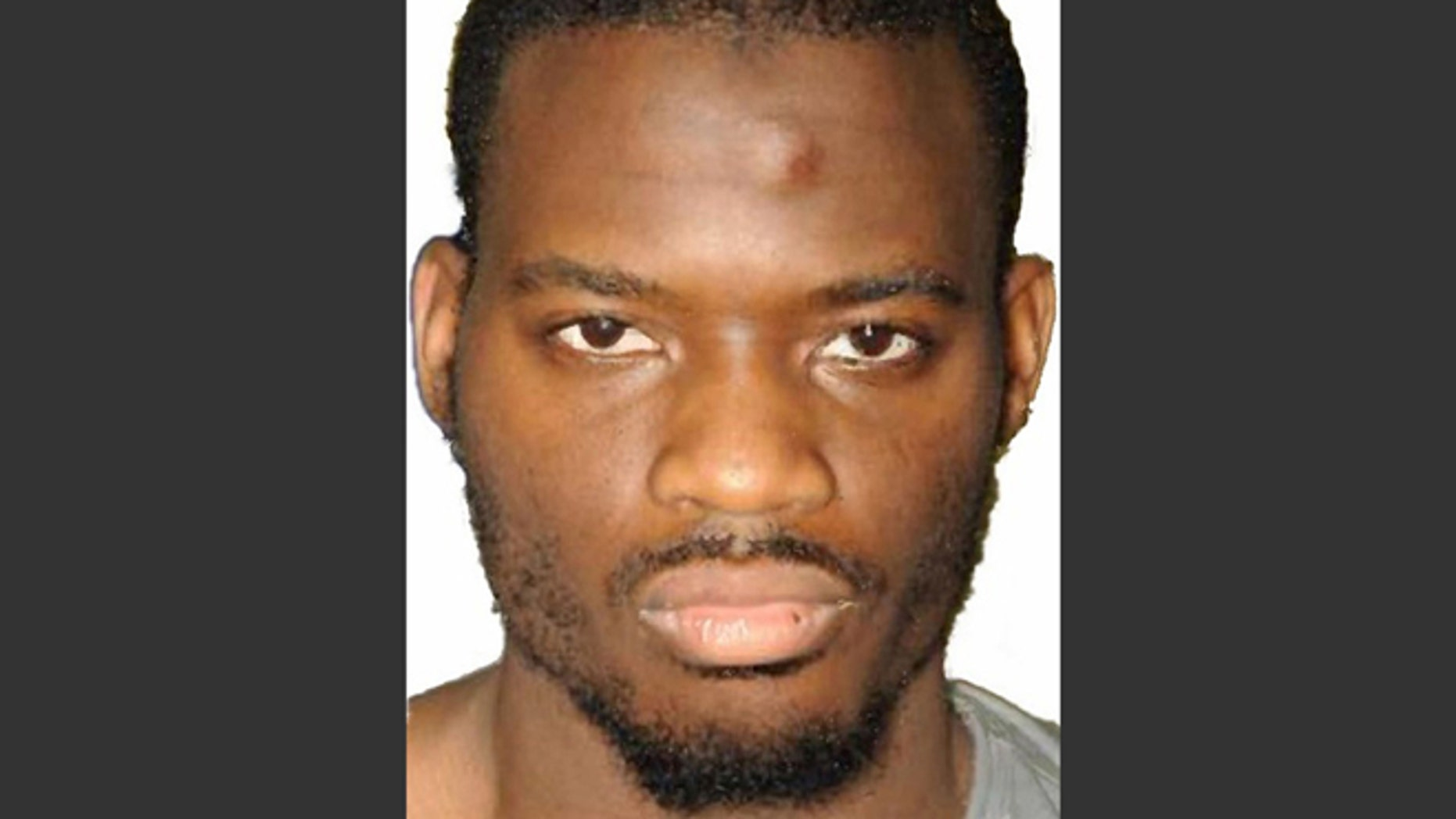 This undated file image released by the Metropolitan Police on Dec. 19, 2013 shows Michael Adebolajo. Adebolajo was found guilty of slaying 25-year-old soldier Lee Rigby and was sentenced to life; accomplice Michael Adebowale received a minimum of 45 years.