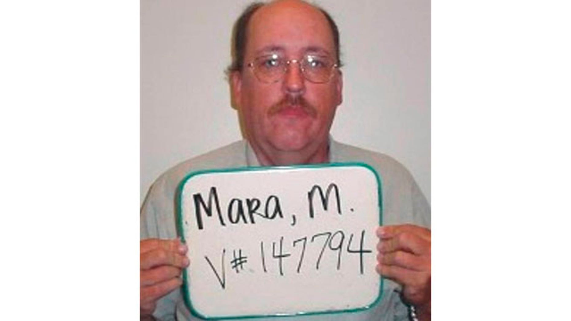 Aug. 2009: Photo provided by the Virginia Department of Corrections shows so-called Granddad Bandit, Michael Francis Mara.