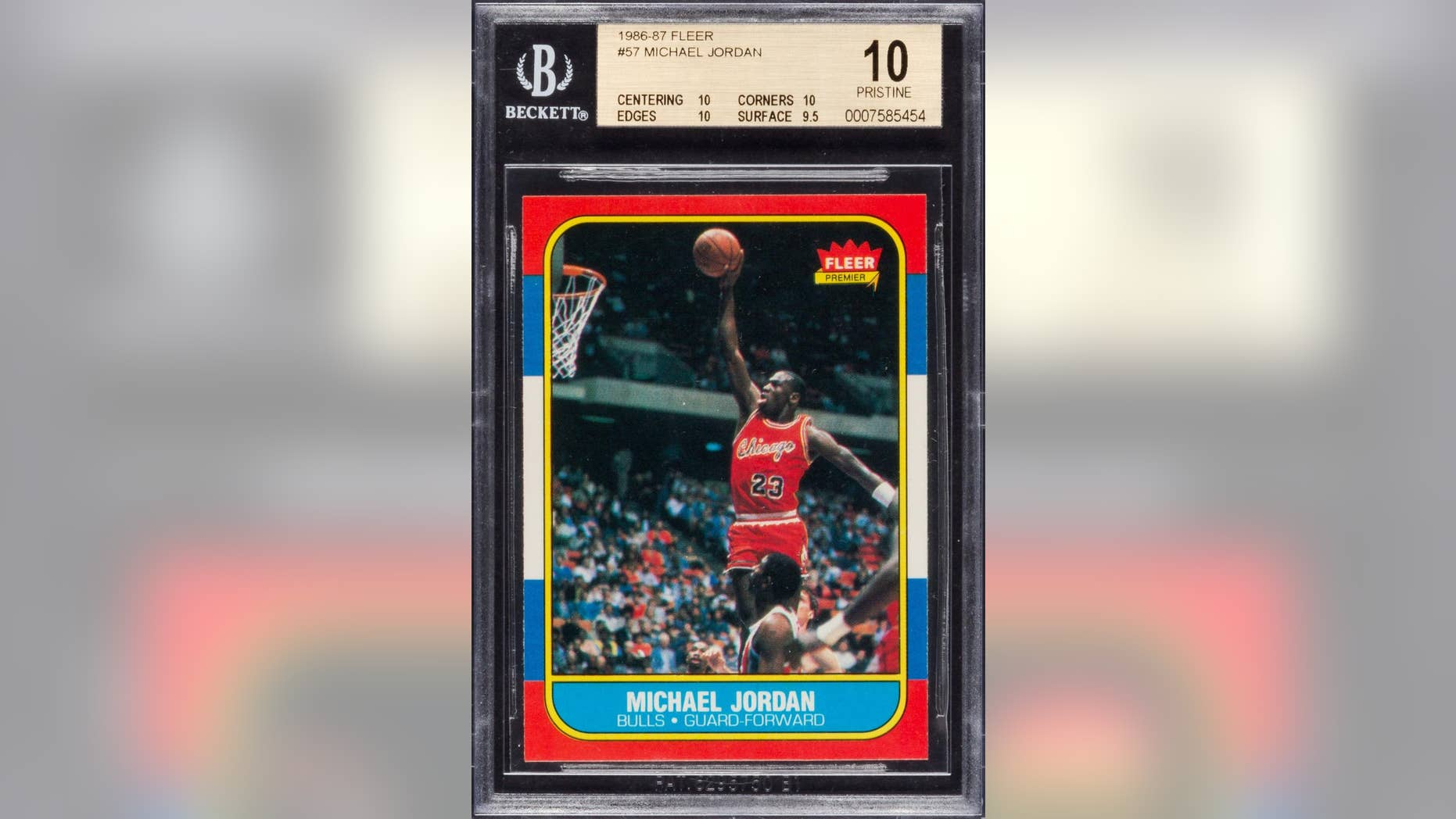 Michael Jordans Nba Rookie Card Fails To Sell In Online