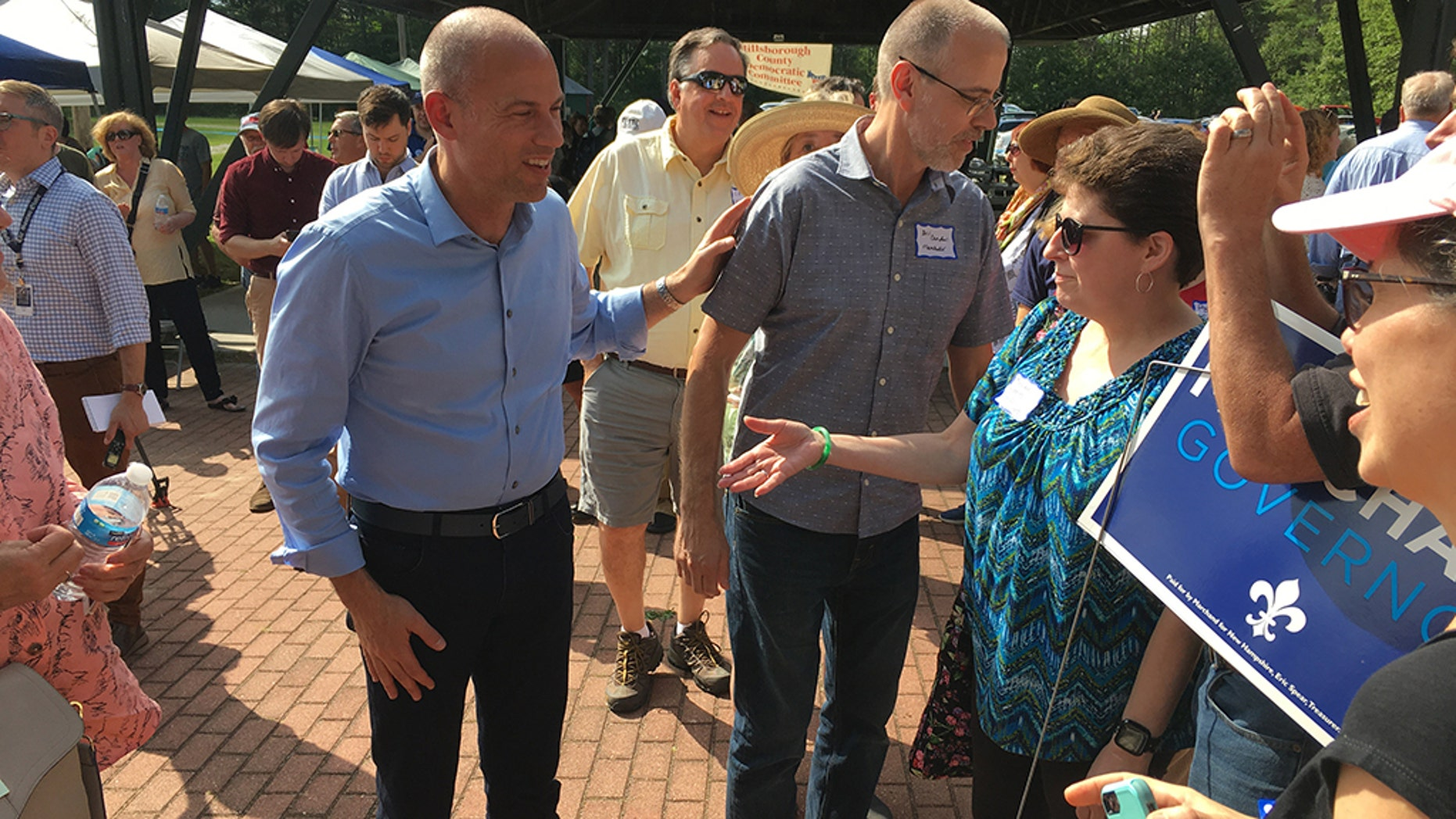 Michael Avenatti headlined a Democratic Party event in Greenfield, New Hampshire.