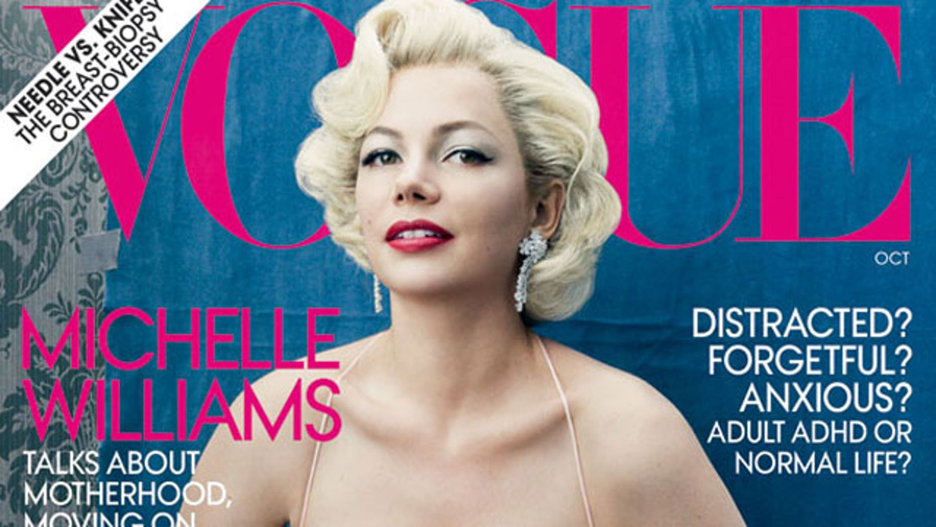 Michelle Williams on the October cover of Vogue magazine. (Vogue)