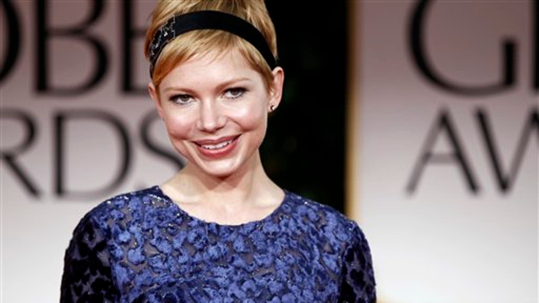 Michelle Williams at the 2012 Golden Globe Awards (AP)