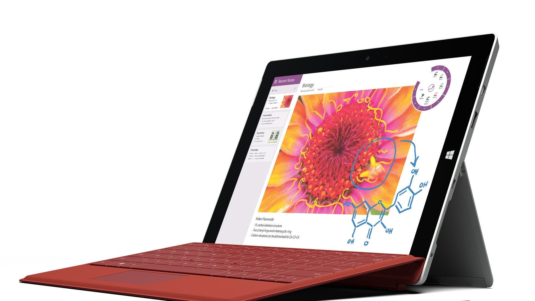 This product image provided by Microsoft shows the company's new Surface 3 tablet.