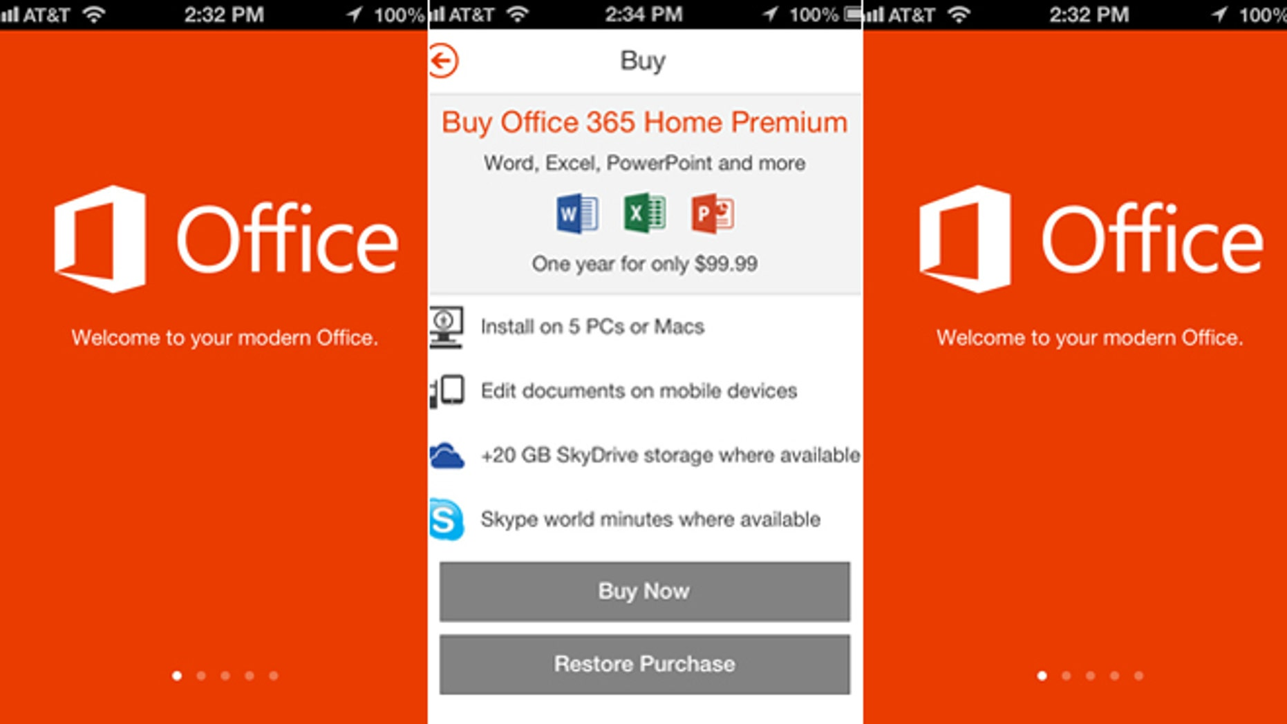 Microsoft's Office for iPhone offers the ability to read and edit text documents, spreadsheets and slide presentations on a phone. The company isn't making an iPad version, though, nor is it offering the app on Android devices.