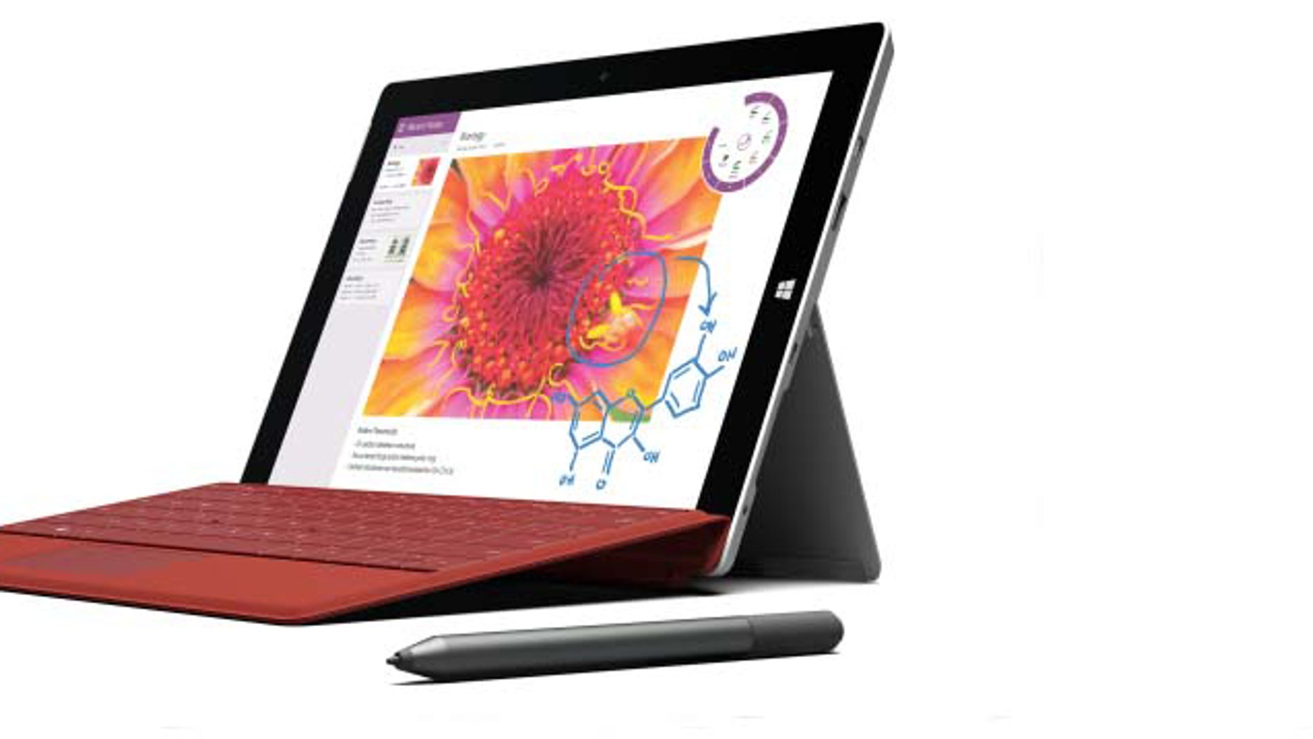 This product image provided by Microsoft shows the company's Surface 3 tablet.
