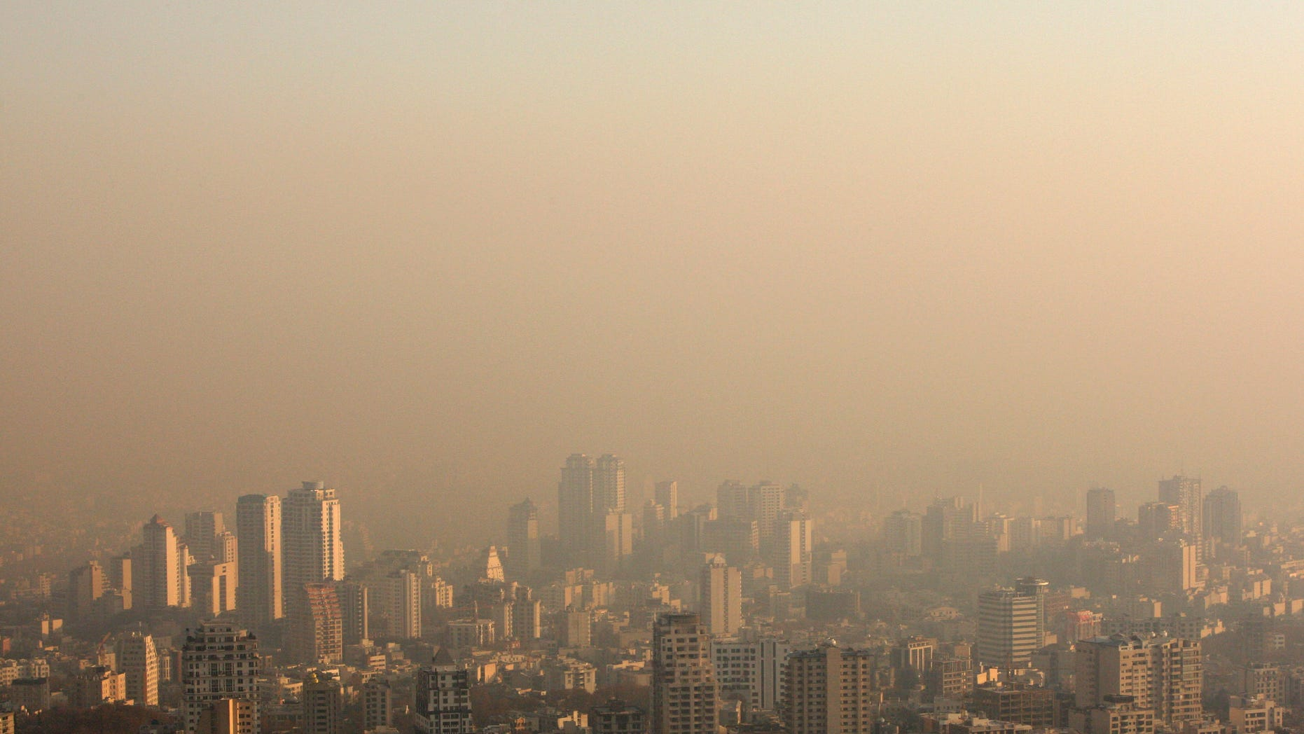 Dec. 1: Rooftops shrouded in polluted air in Tehran, Iran.
