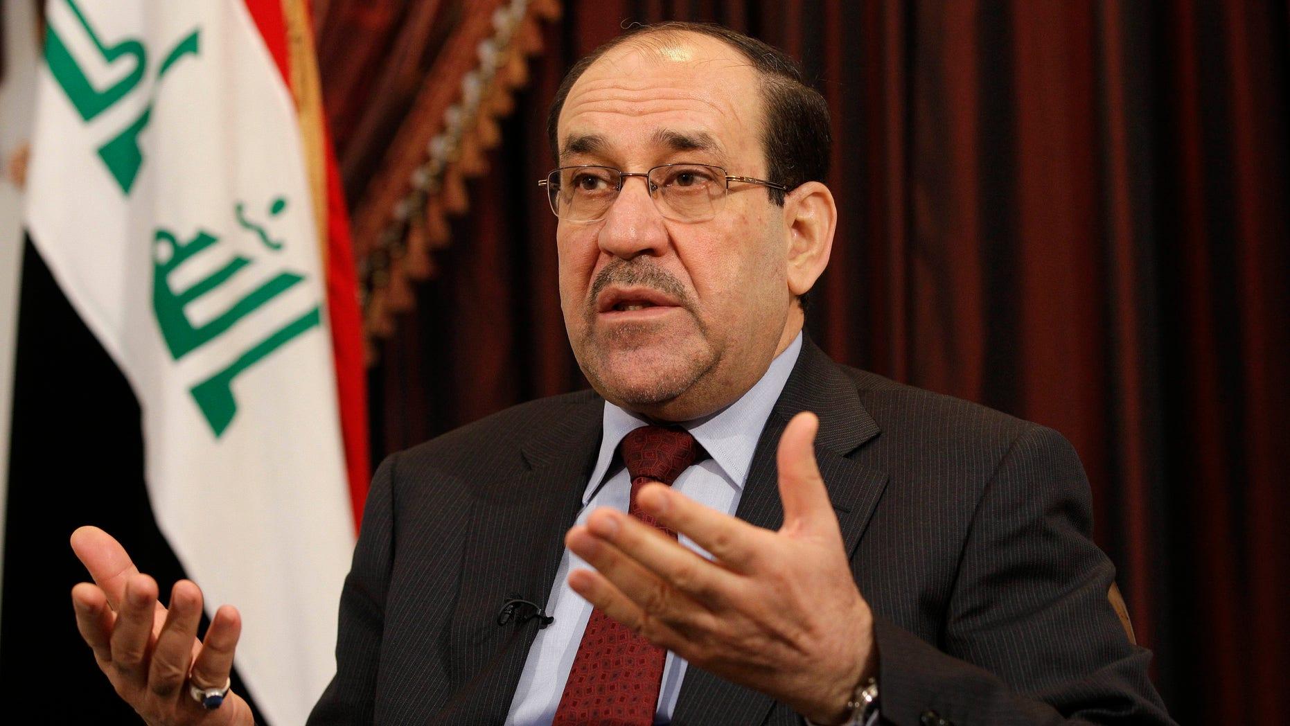 Dec. 3, 2011: Iraq's Prime Minister Nouri al-Maliki.