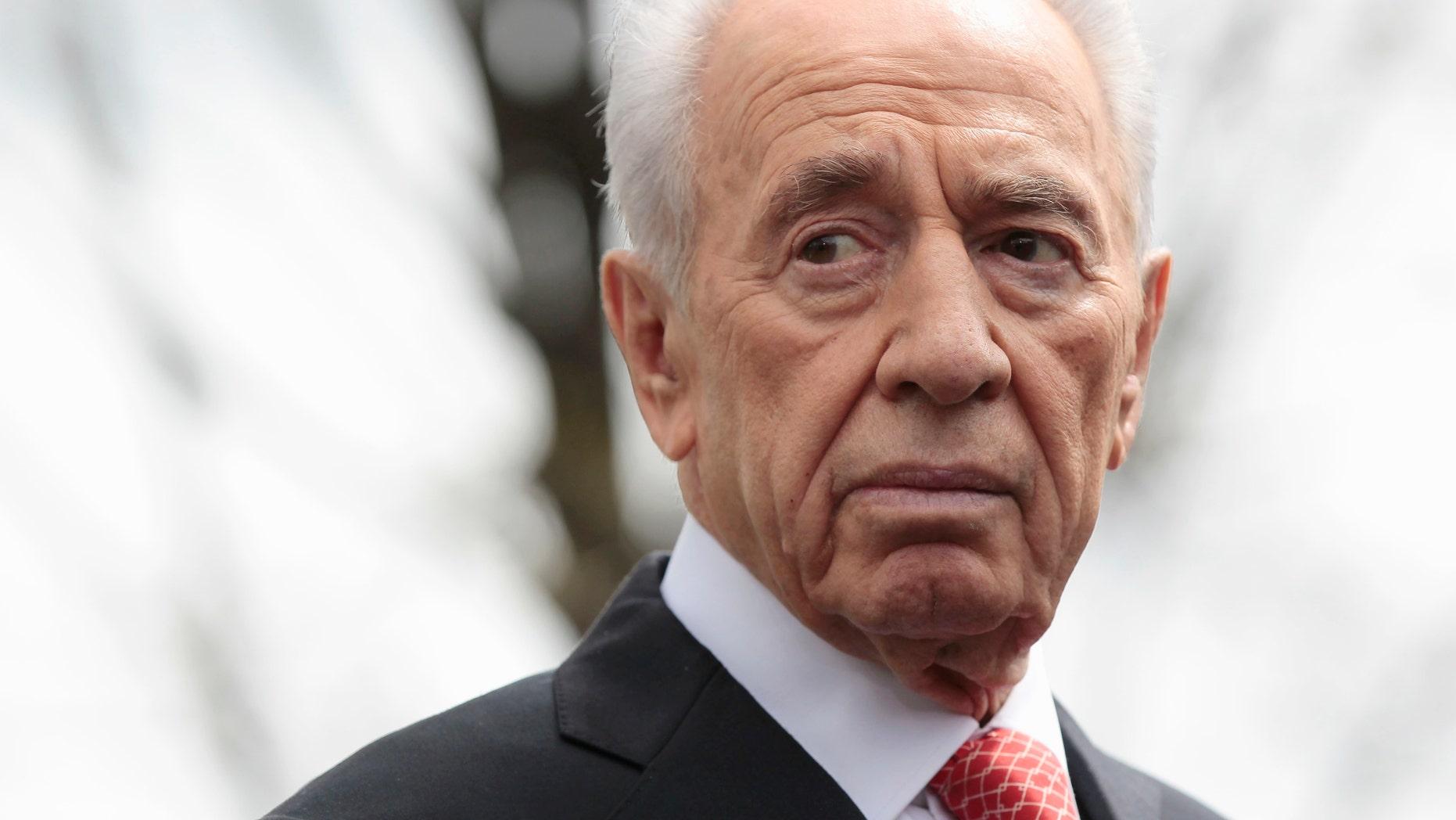 April 5, 2011 - FILE photo of Israeli President Shimon Peres.